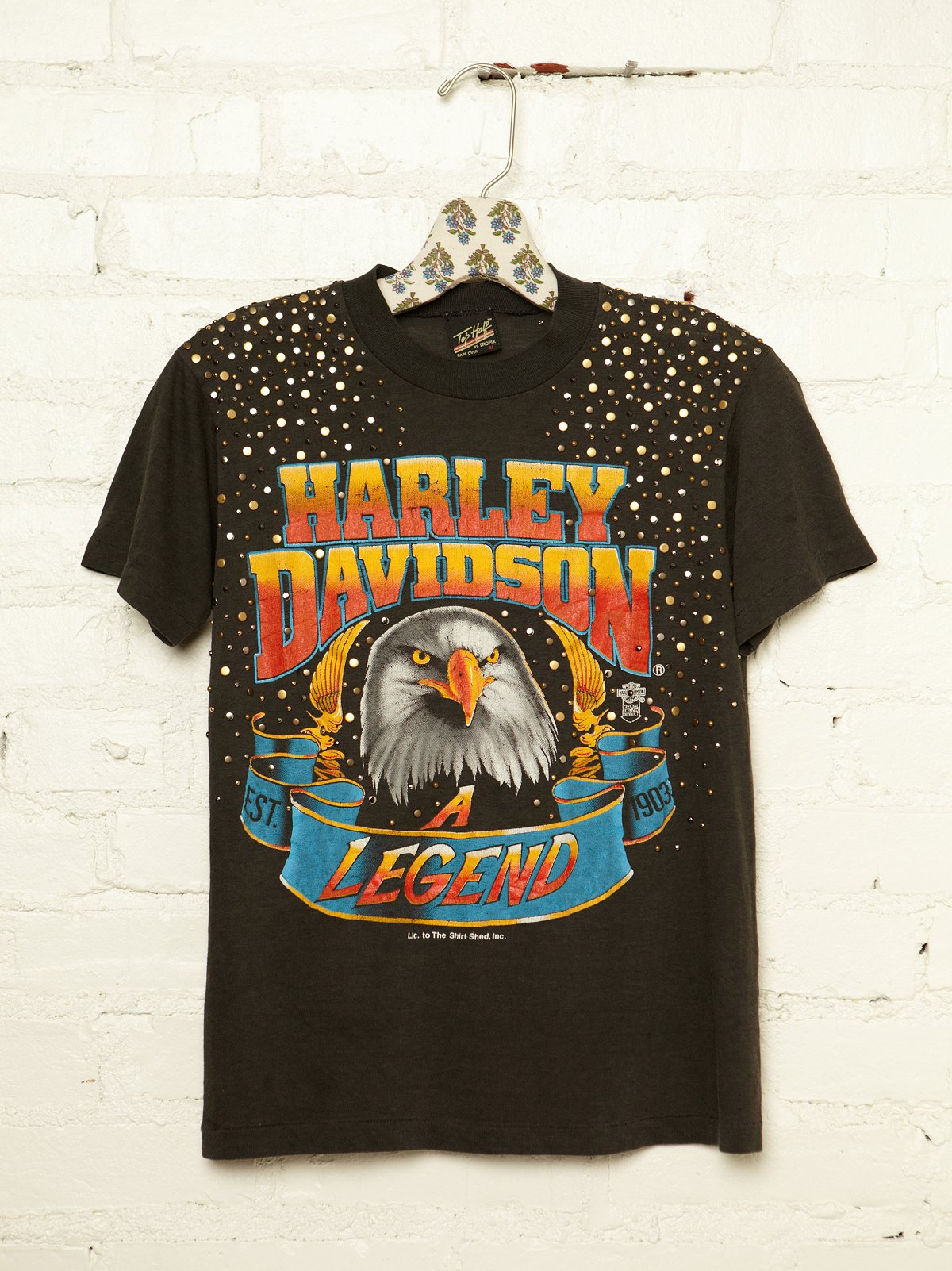 Vintage Studded Harley Tee