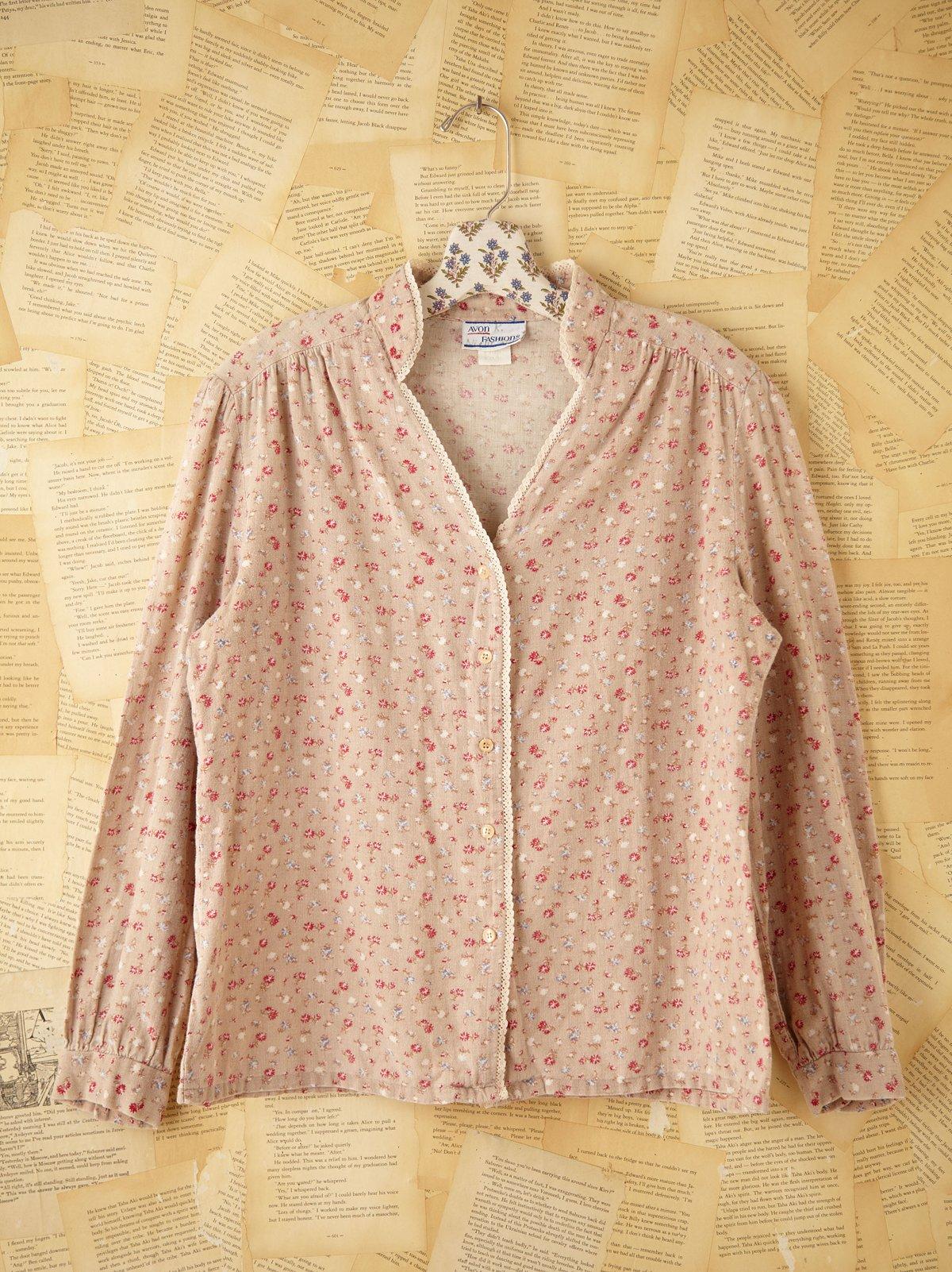 Vintage Floral Printed Shirt