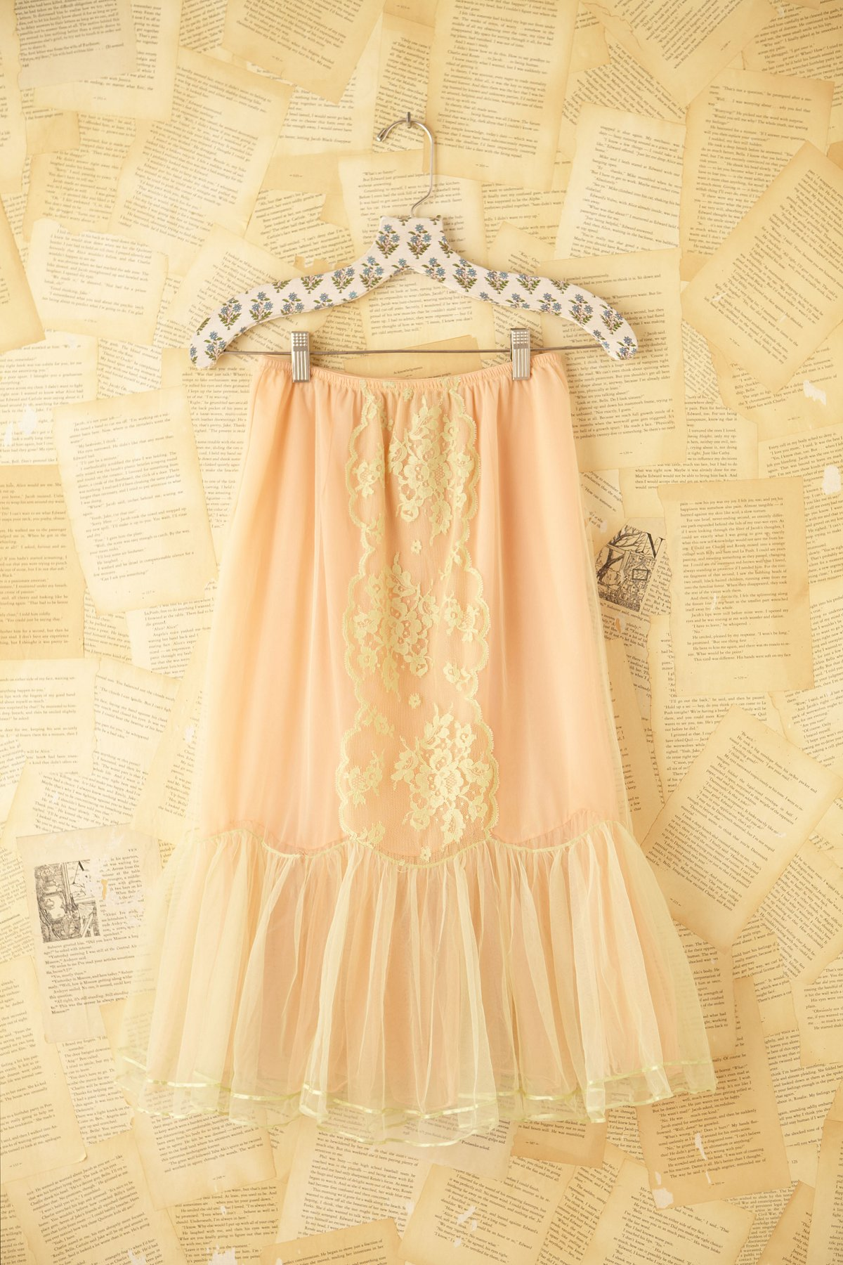 Vintage Lace Paneled Skirt