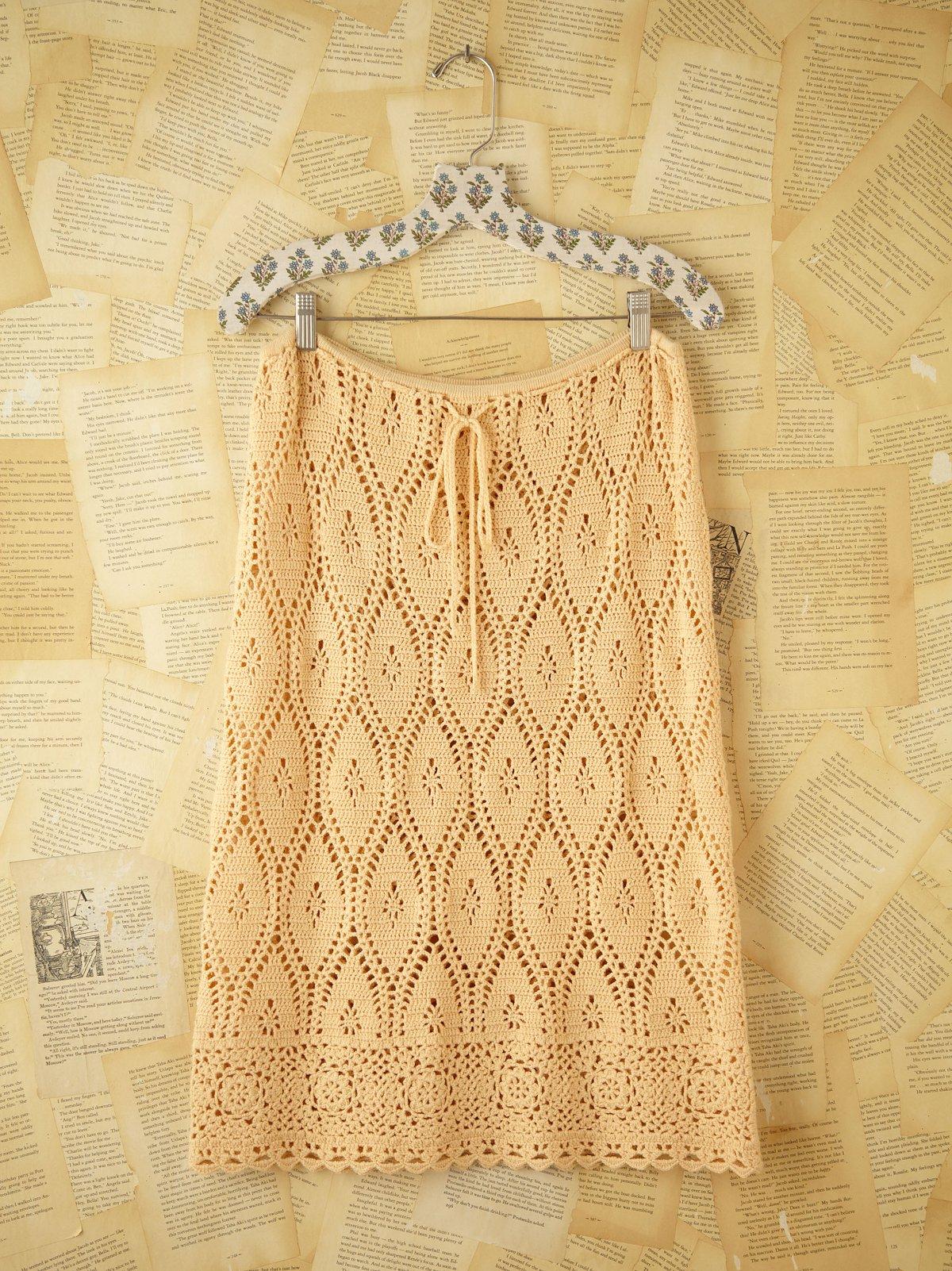 Vintage Crochet Skirt