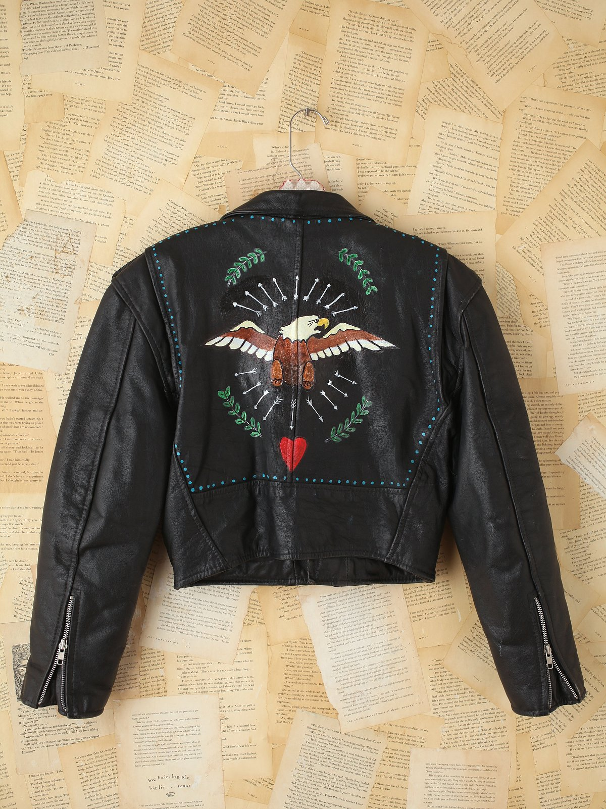 Vintage John David Mahaffey Hand-Painted Leather Jacket