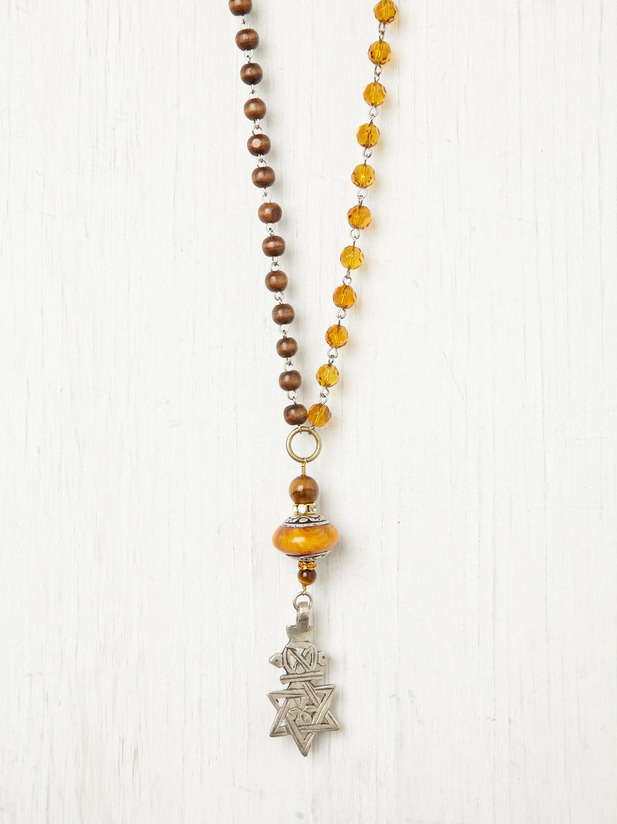 Earth Tone India Amber Necklace