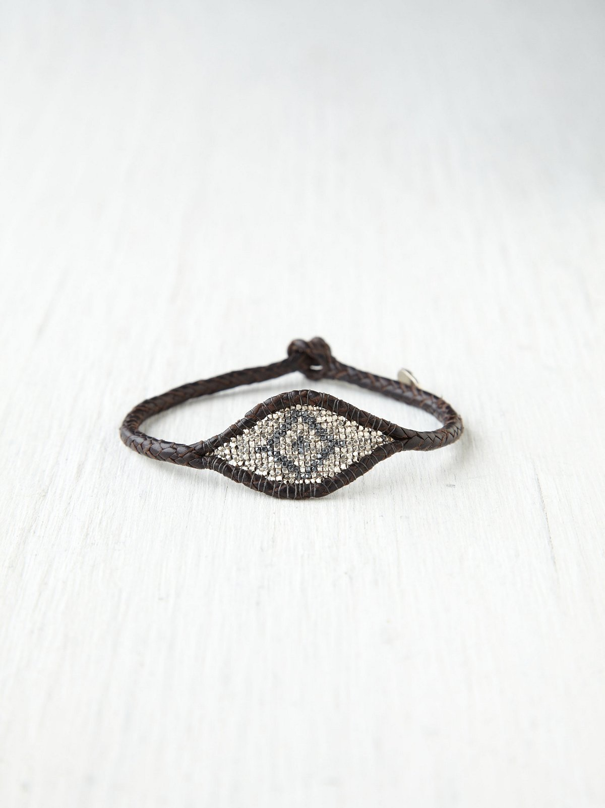 Leather Beaded Eye Bracelet