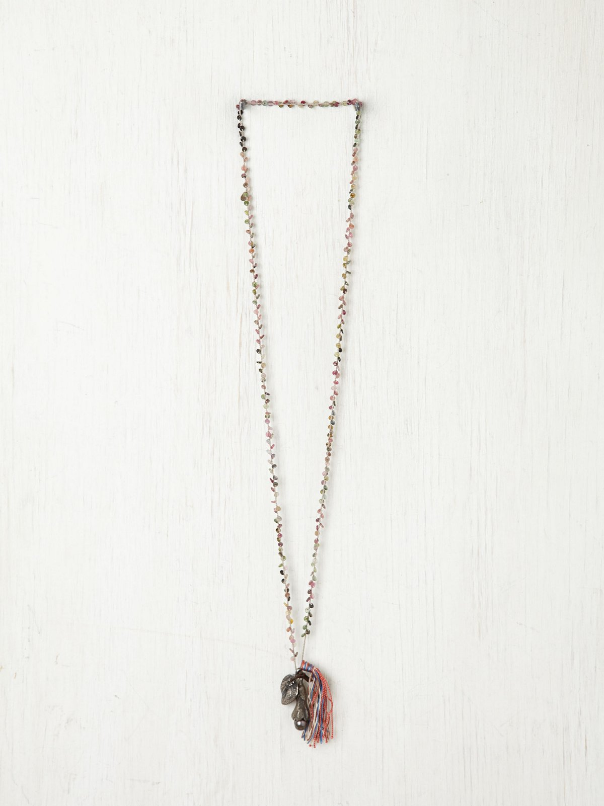 Tassel & Leaf Rosary Necklace