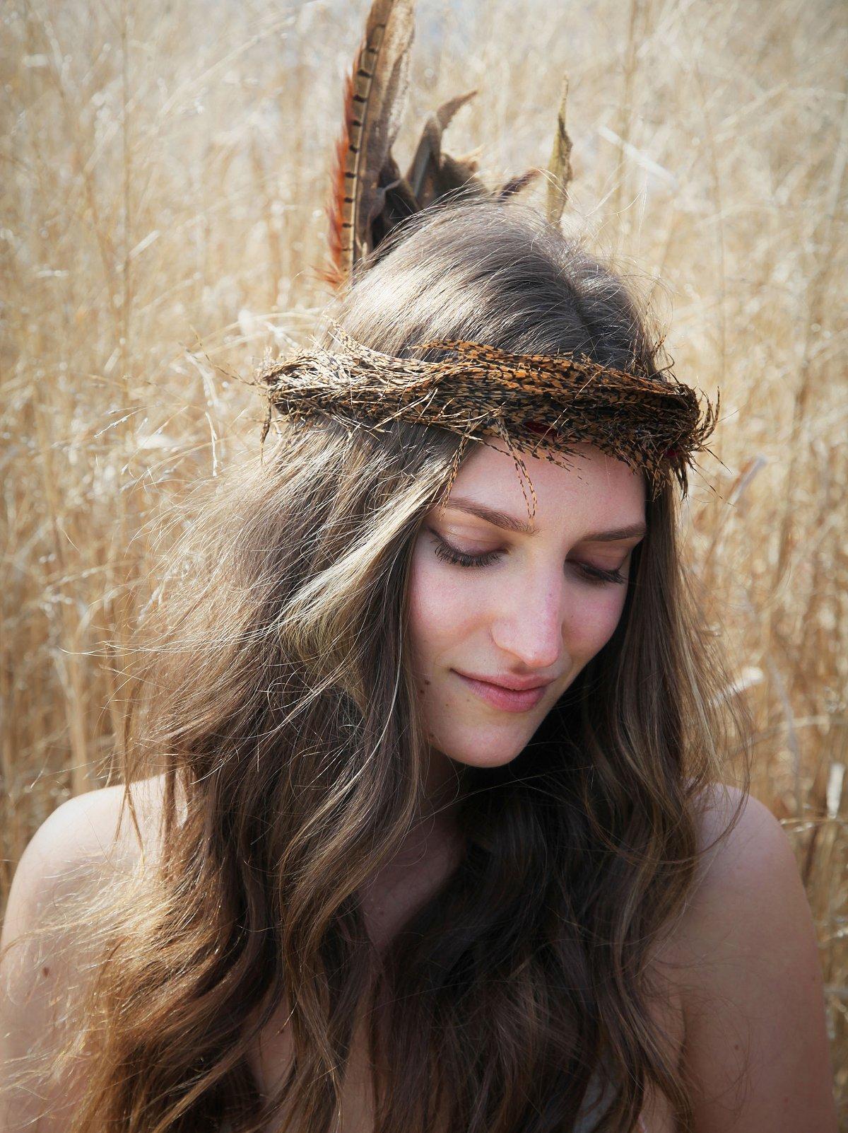 Brown Feather Headdress