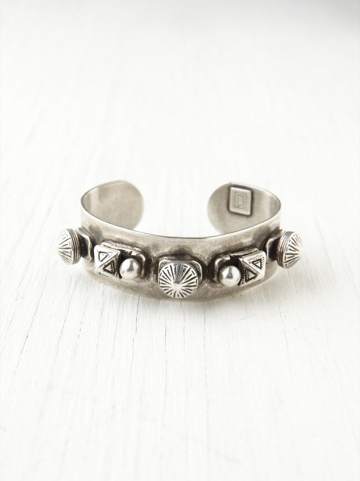 Studded Silver Cuff
