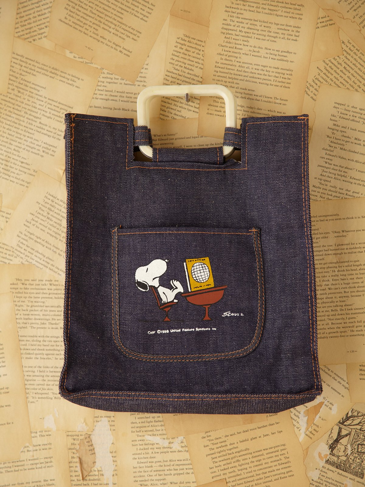 Vintage Denim Snoopy Tote