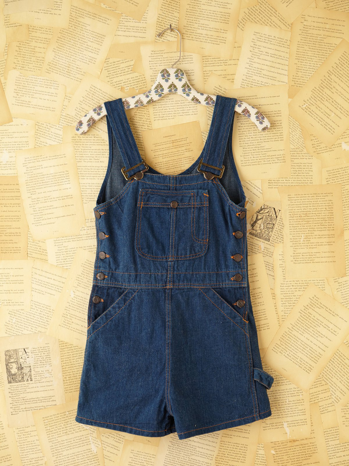 Vintage Denim Overall Shorts