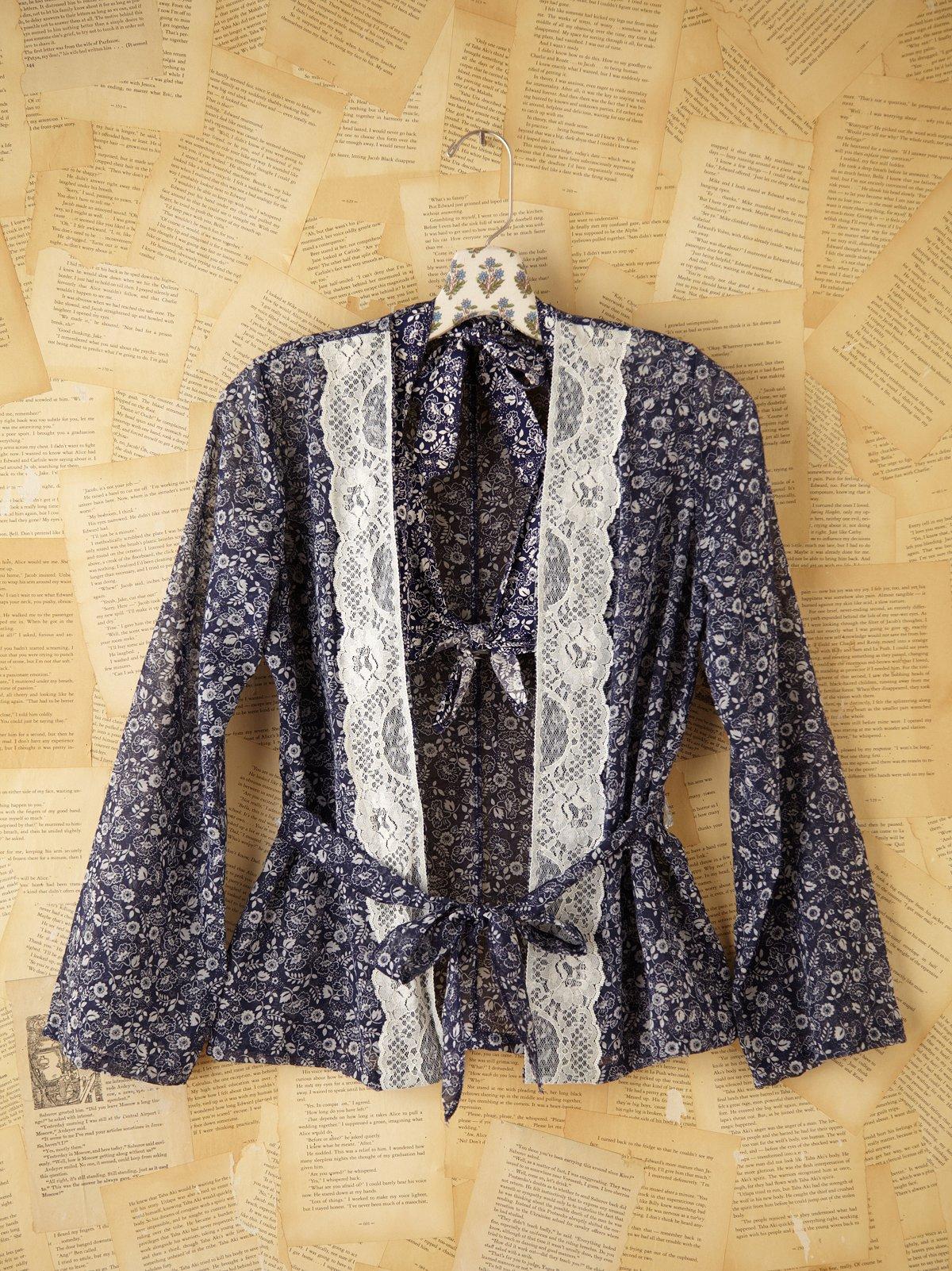 Vintage Paisley Shirt & Bralette