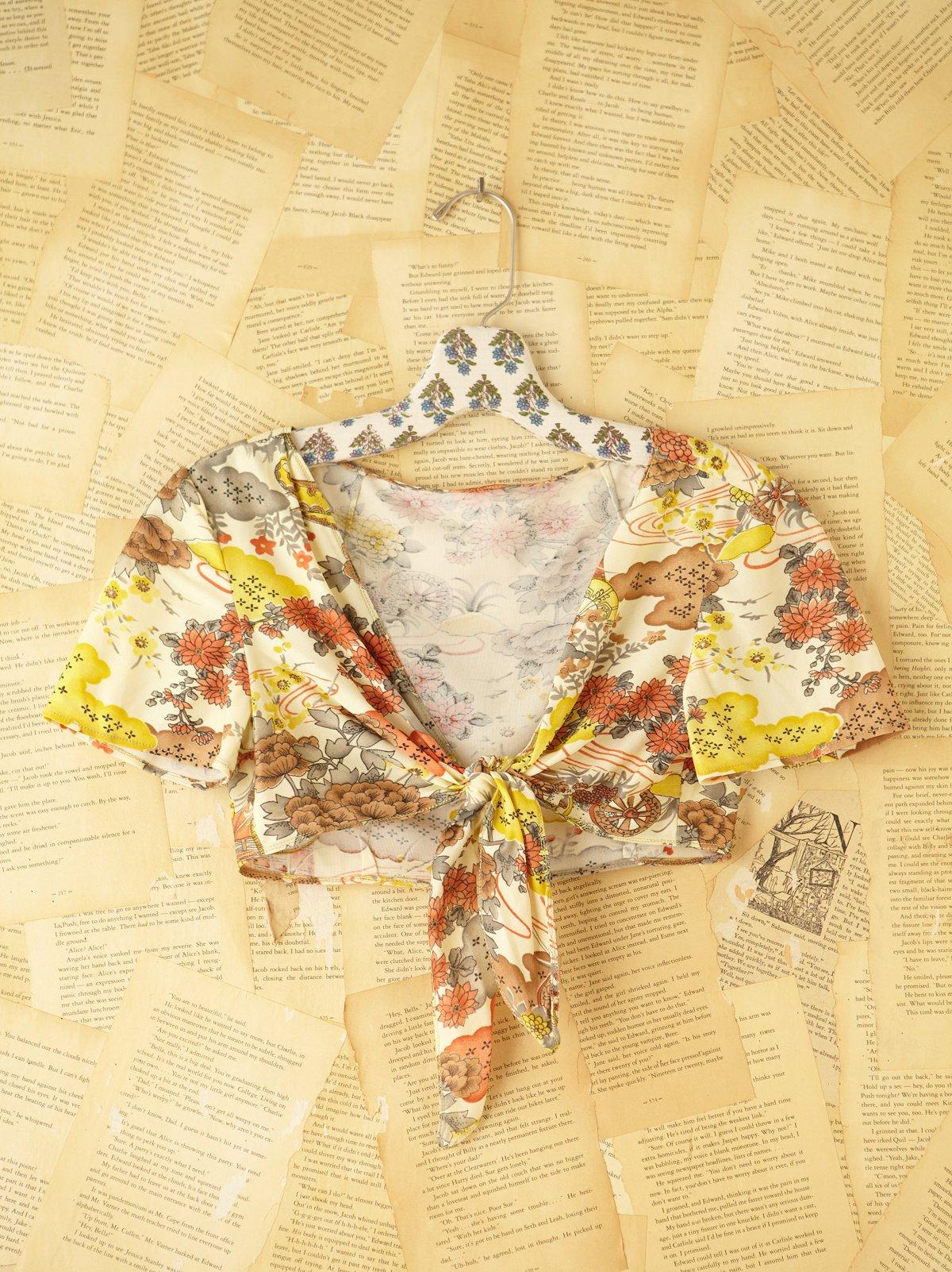 Vintage Floral Cropped Shrug