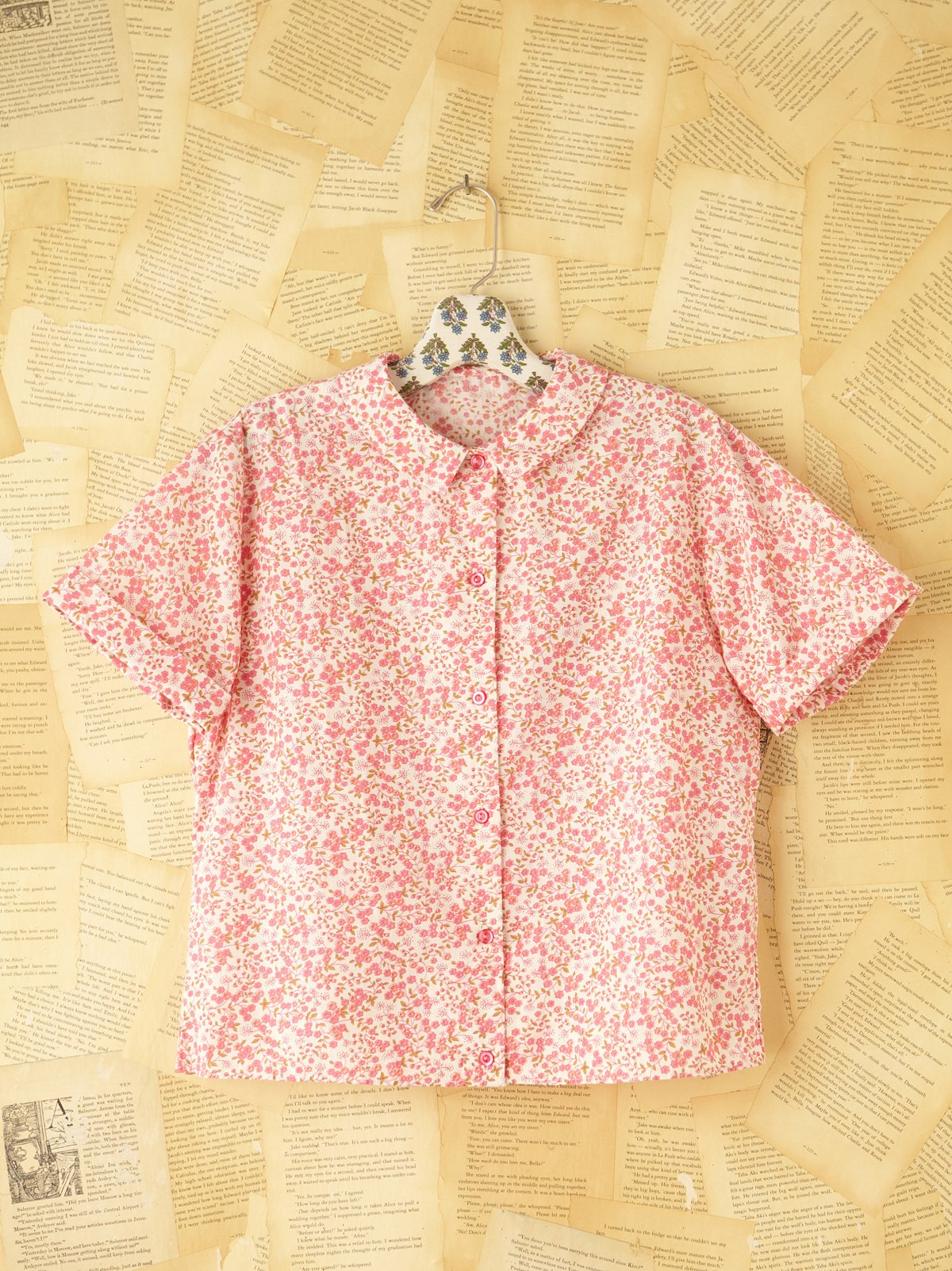 Vintage Floral Buttondown Top