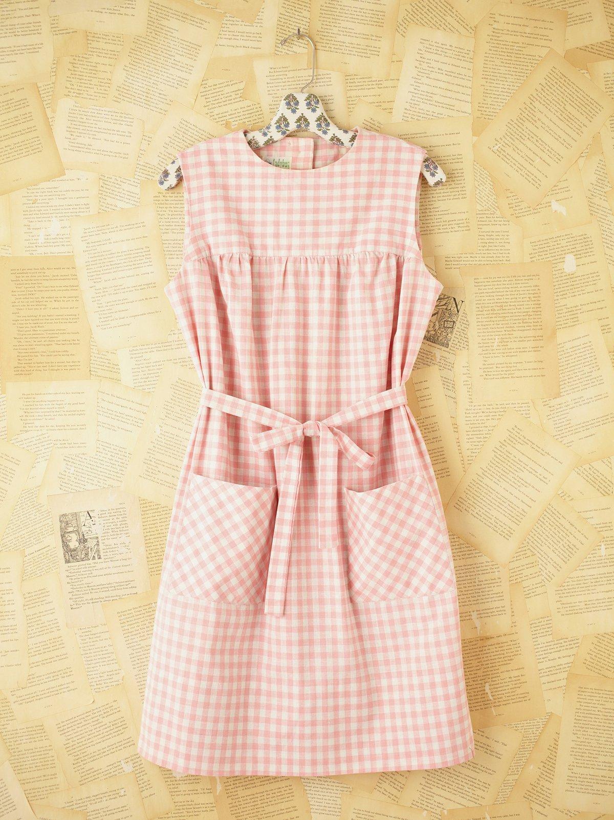 Vintage Gingham Shift Dress