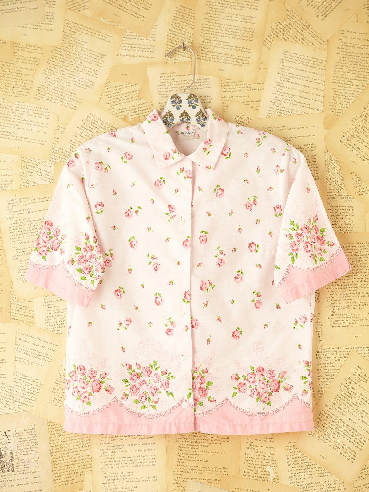 Vintage Floral Buttondown Top