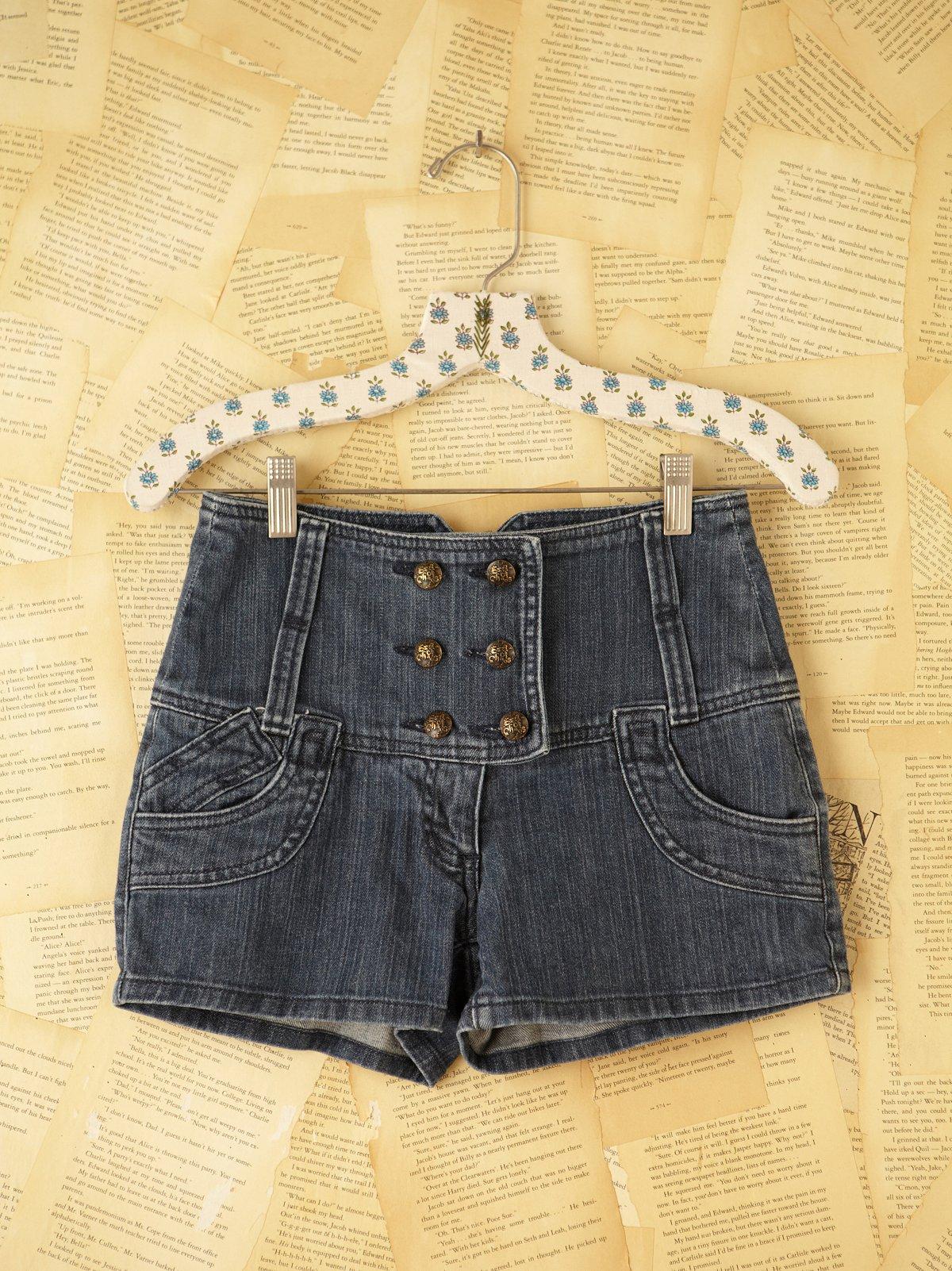 Vintage High-Waisted Shorts