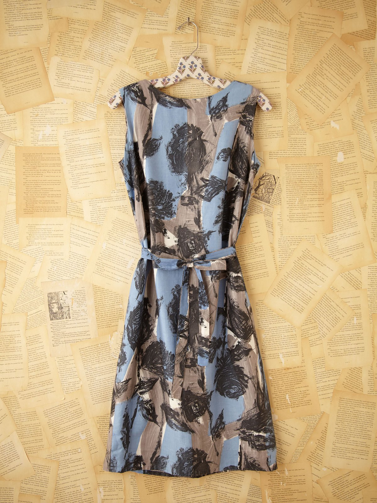 Vintage Brush Stroke Dress
