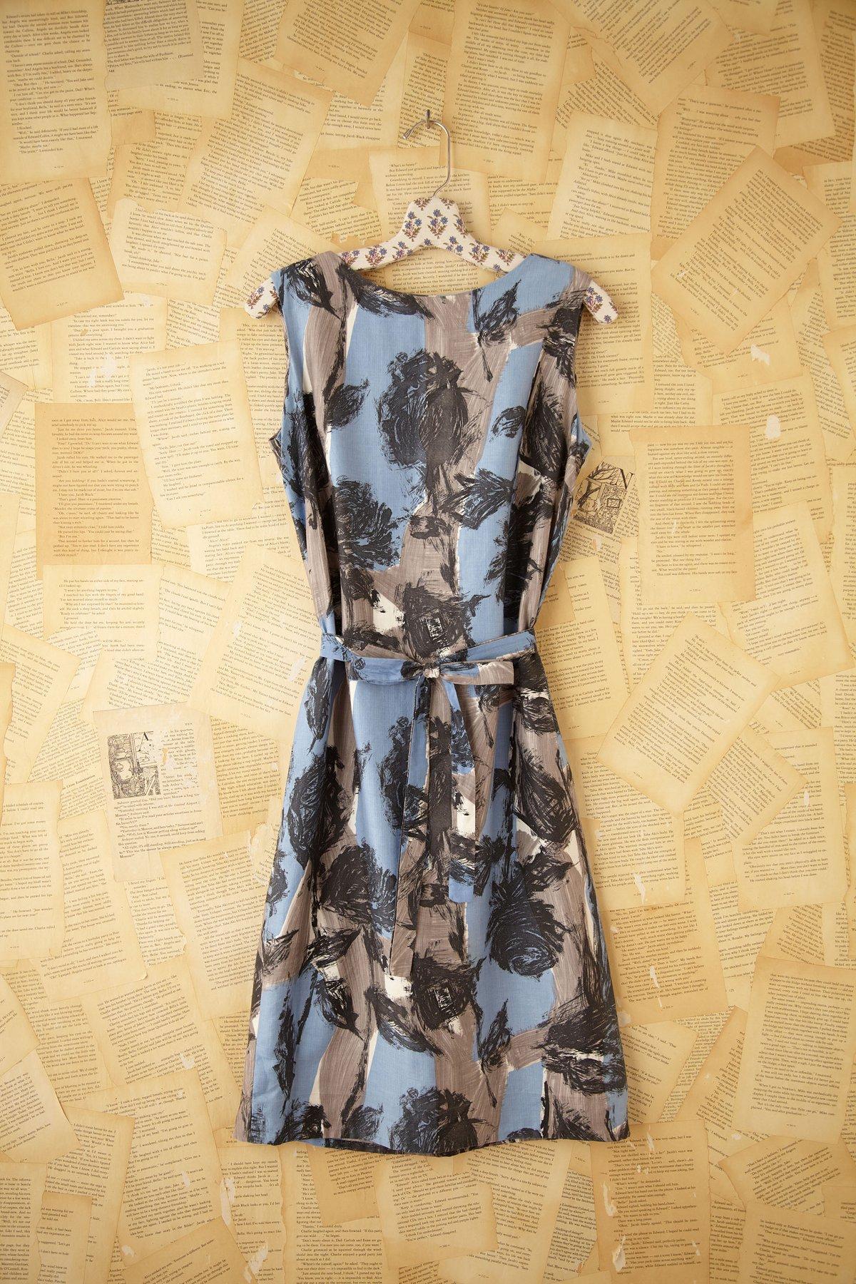 Vintage Brush Stroke Dress