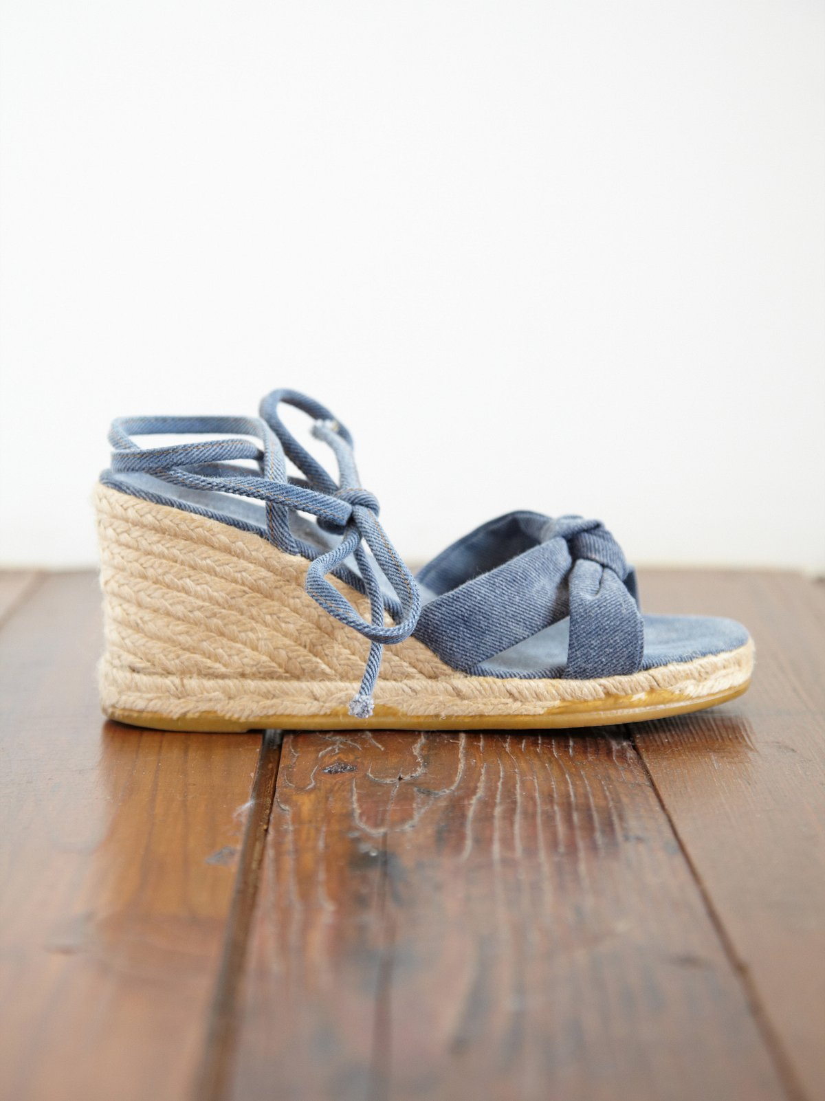 Vintage Denim Wedges