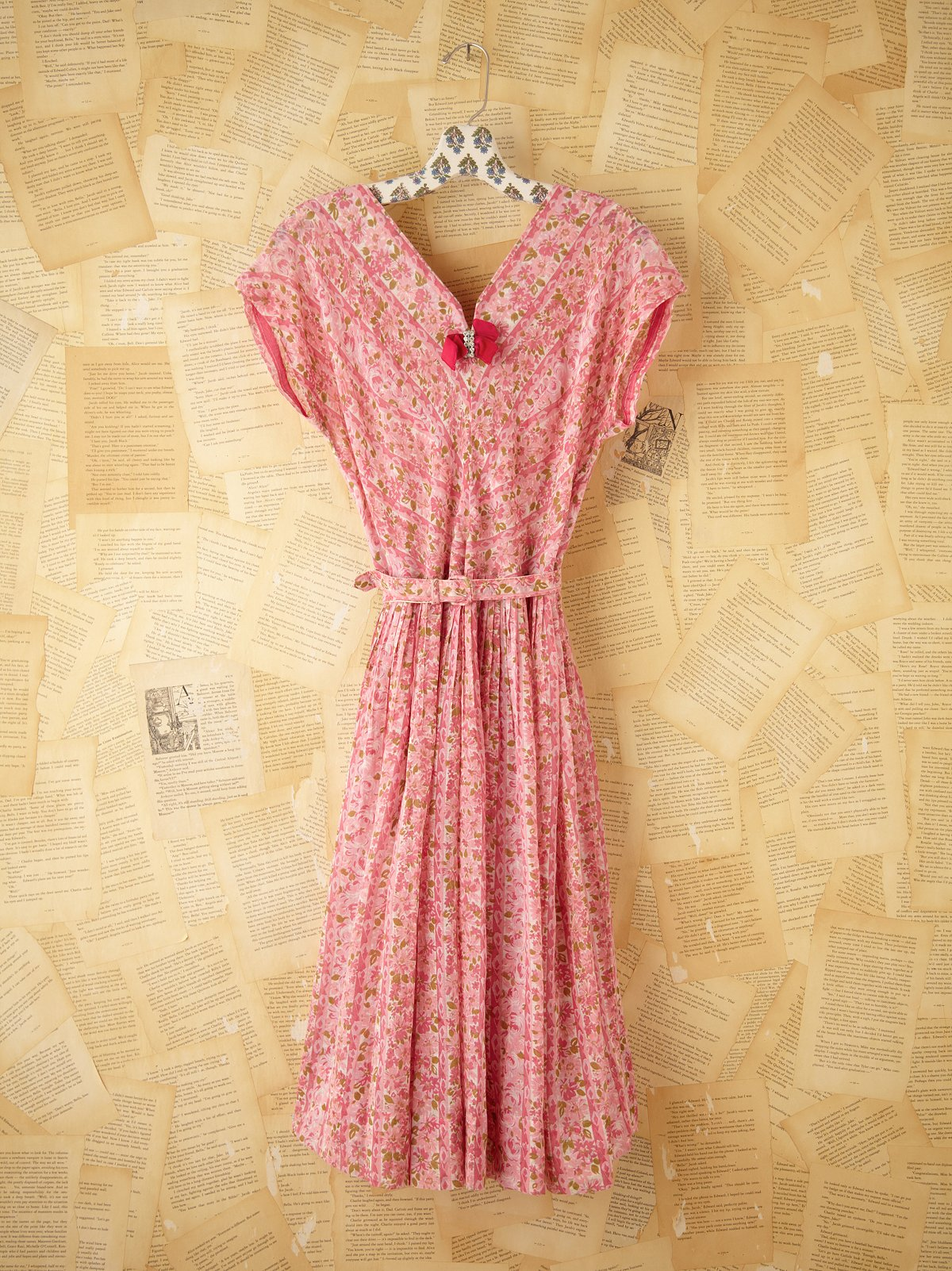 Vintage 1950s Print Dress