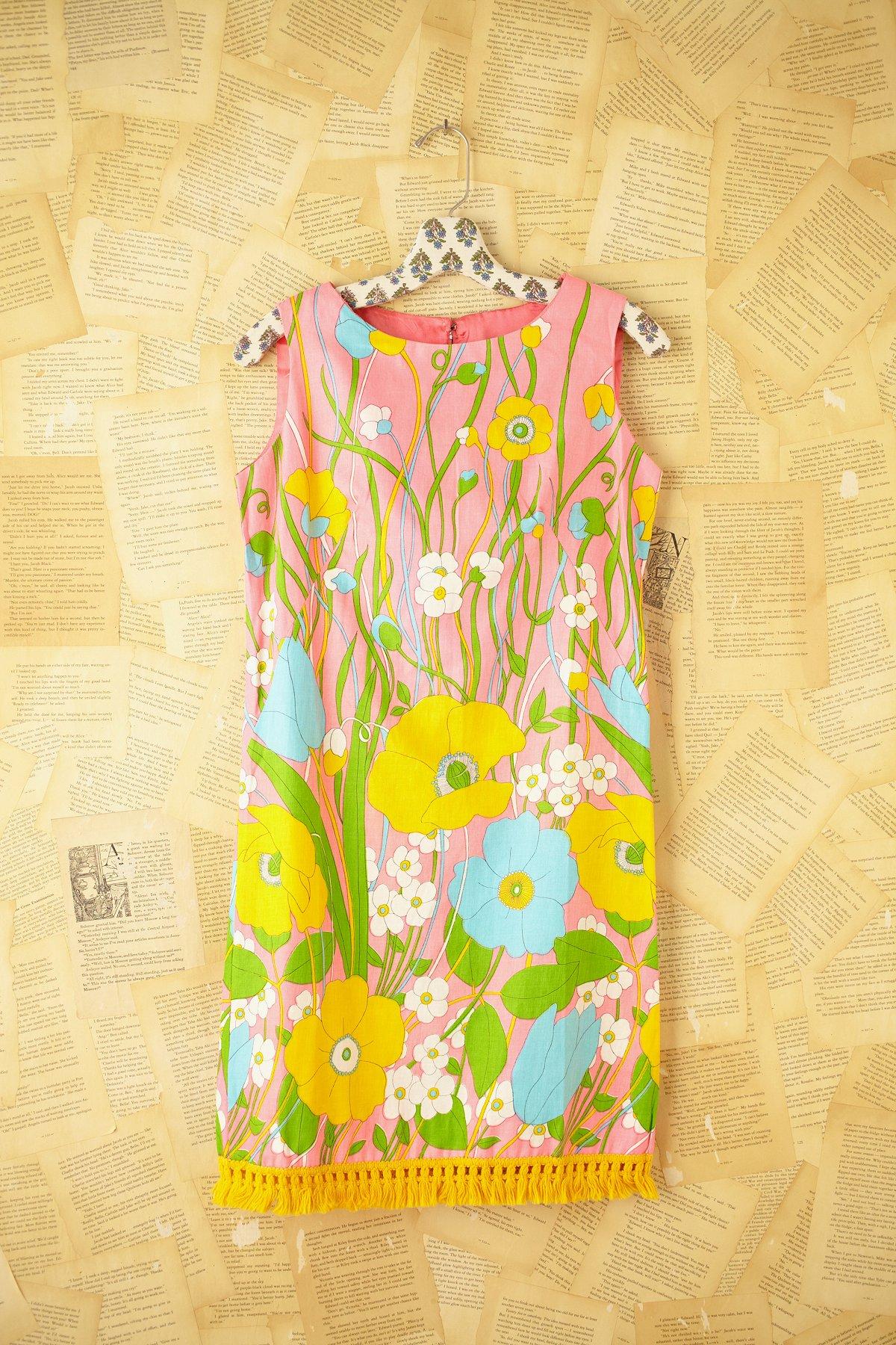 Vintage 1960s Printed Dress
