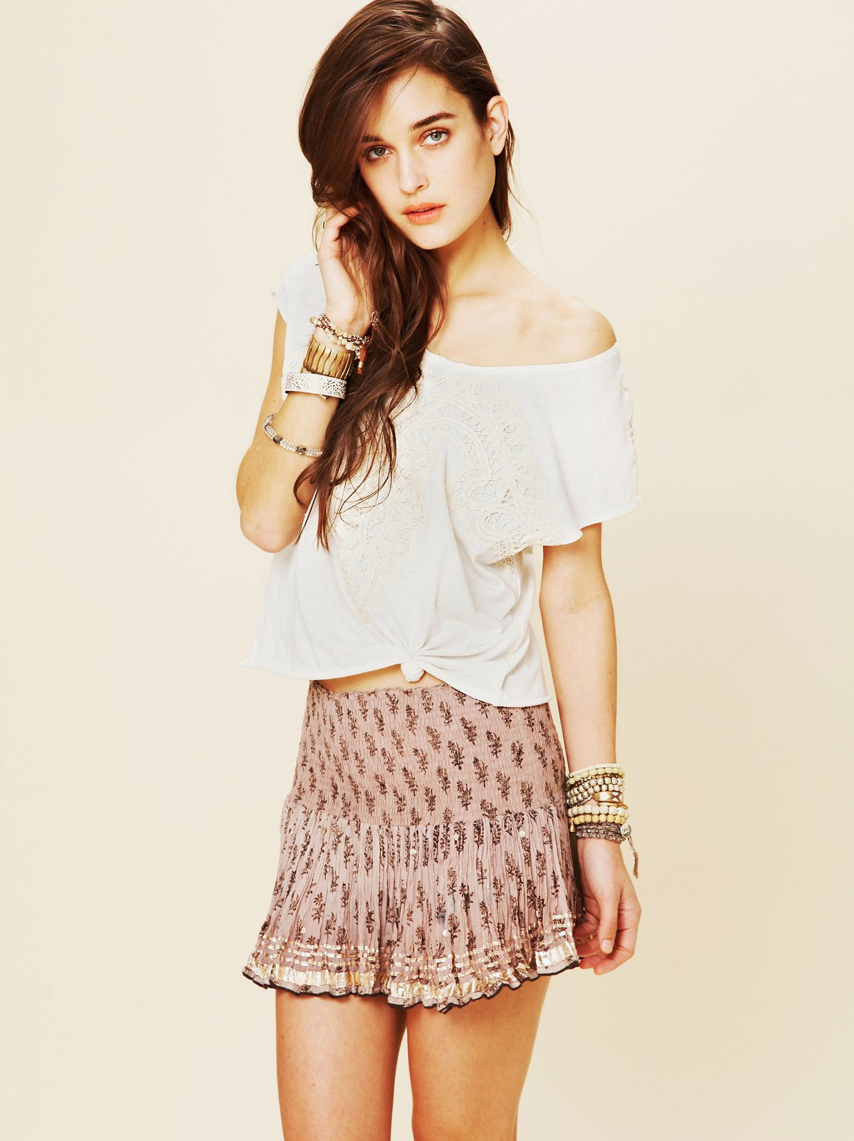 FP ONE Printed Shine Mini Skirt