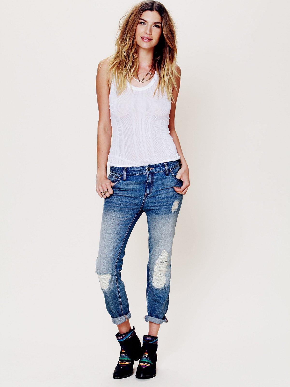 Slim Slouch Ankle Crop Jean