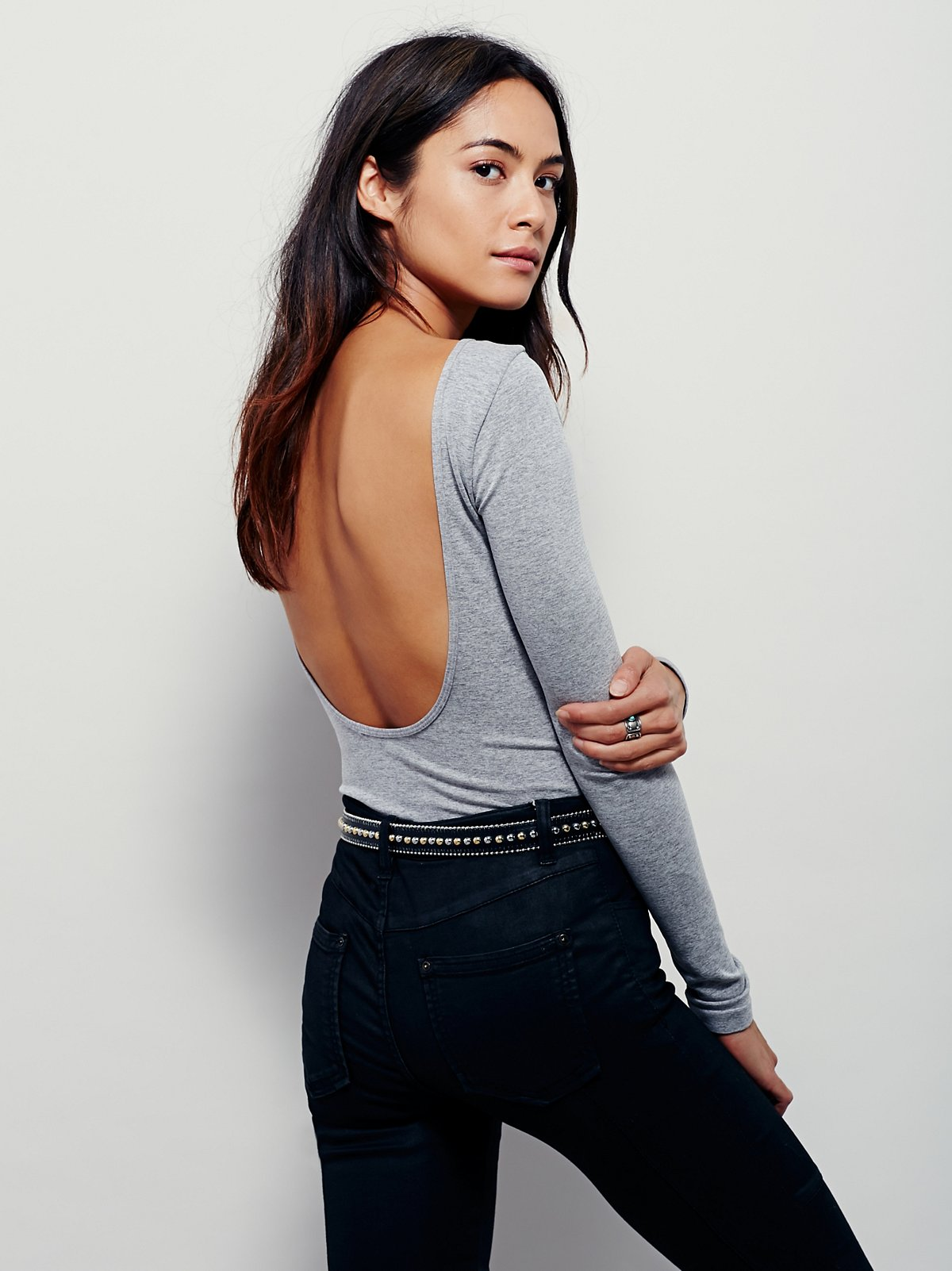 Solid Low Back Top