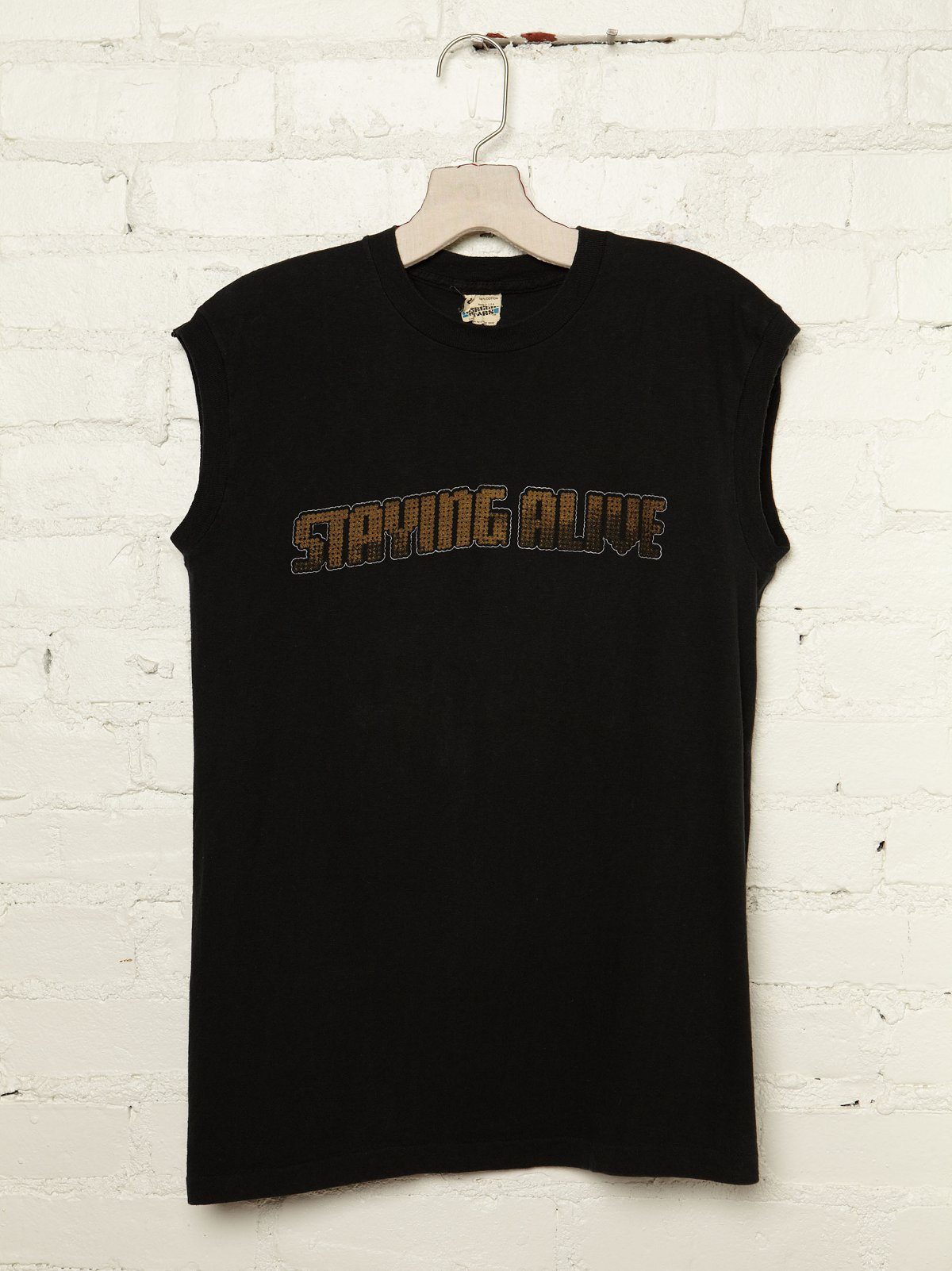 Vintage Staying Alive Graphic Tank