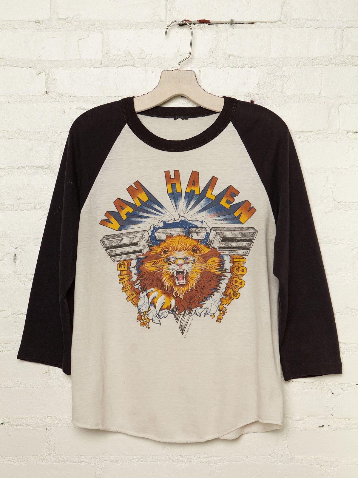 Vintage Van Halen 1982 Baseball Tee