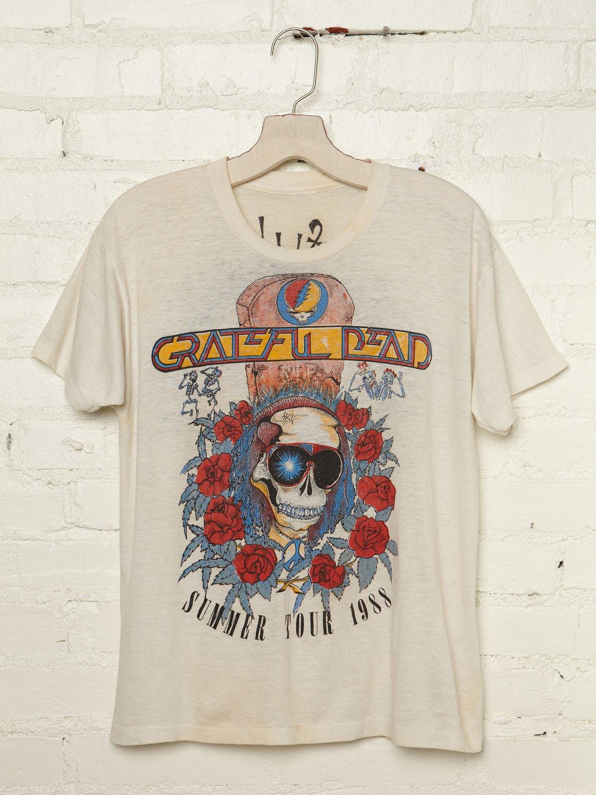 Vintage Grateful Dead Summer Fall 1988 Tour Tee