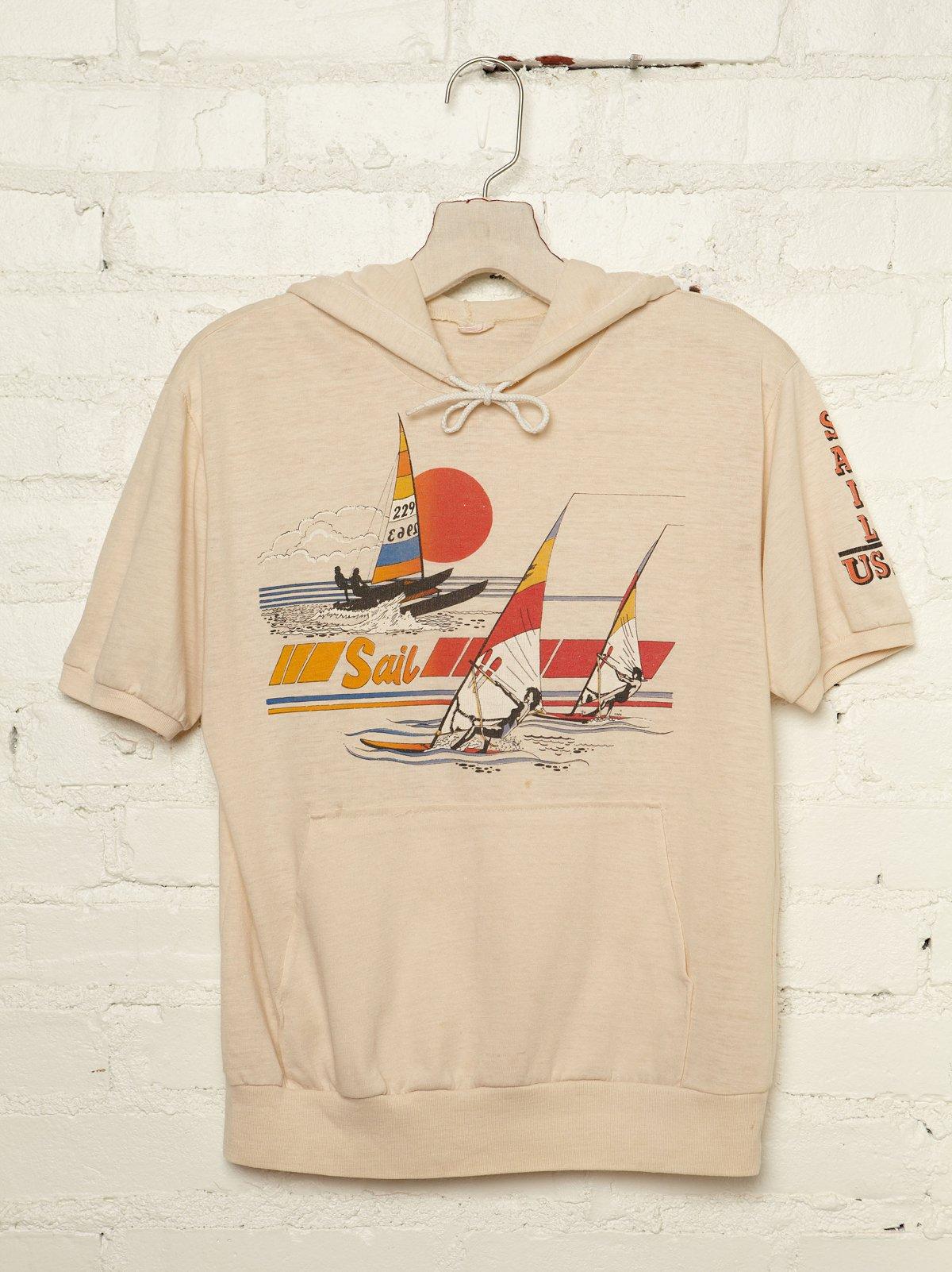 Vintage Sail Graphic Hooded Tee