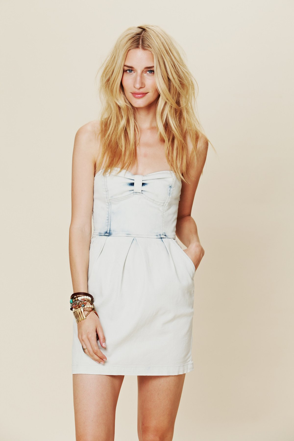 Denim Tube Dress
