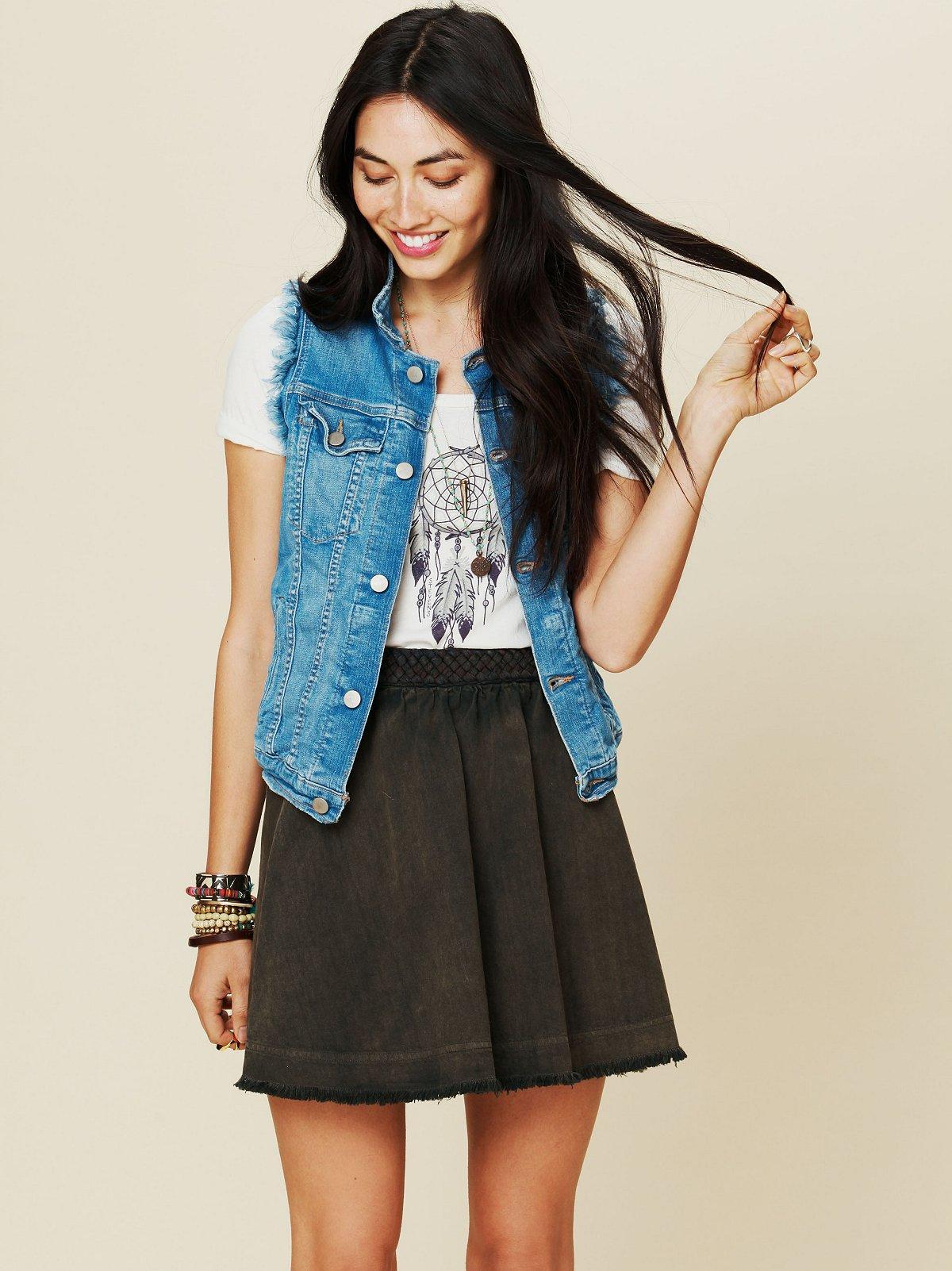 Braided Waistband Circle Skirt