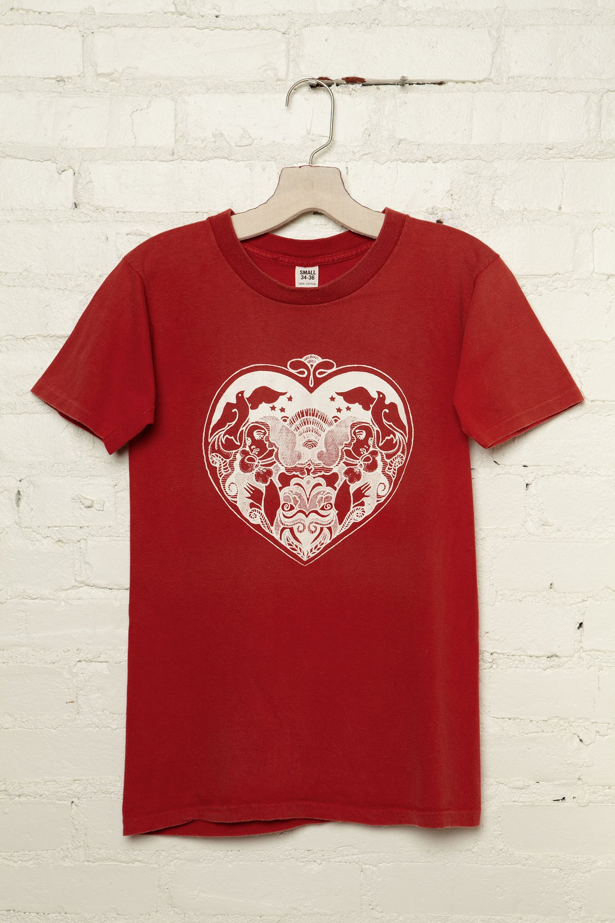 Vintage Hearts With Dove Graphic Tee