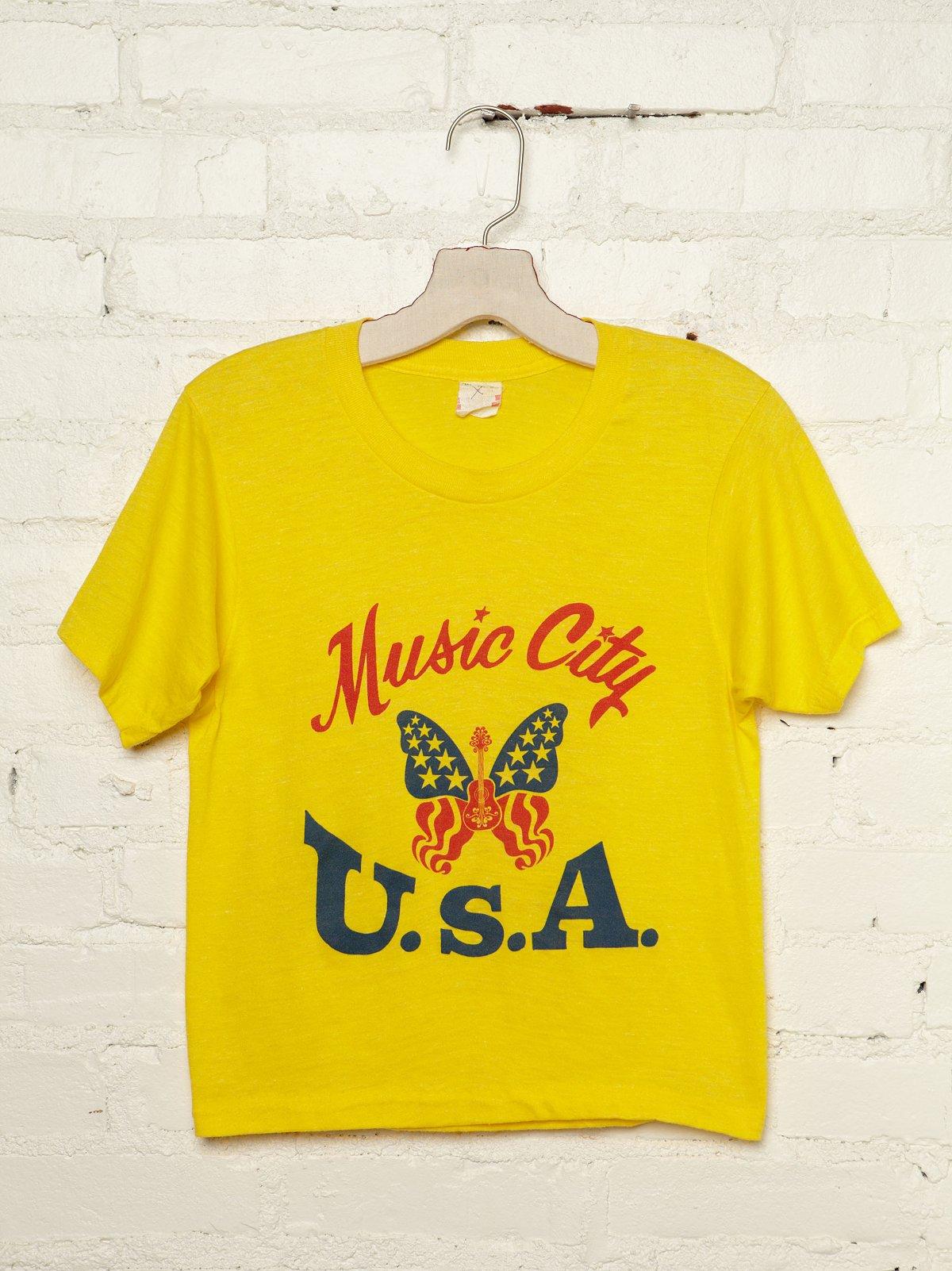 Vintage Music City U.S.A. Tee