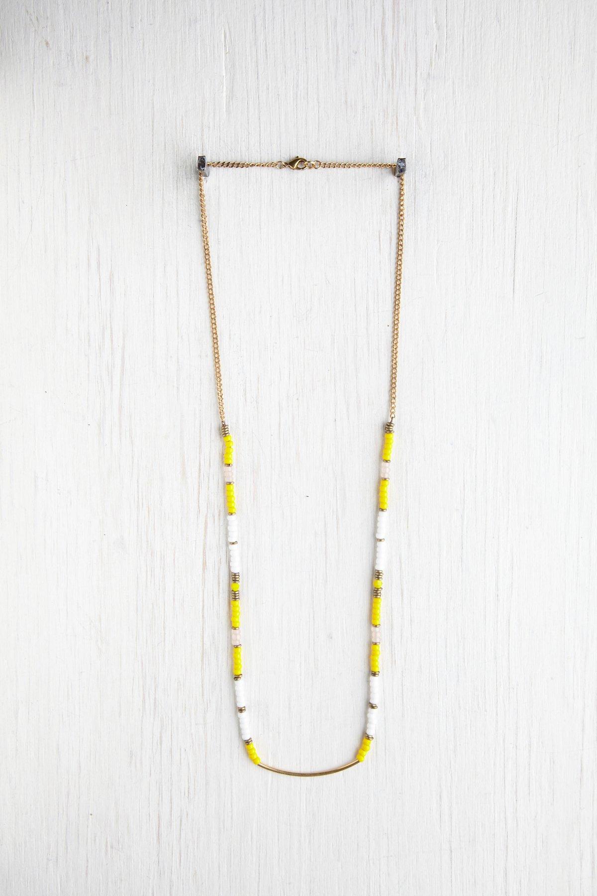 Multi Bead & Metal Necklace