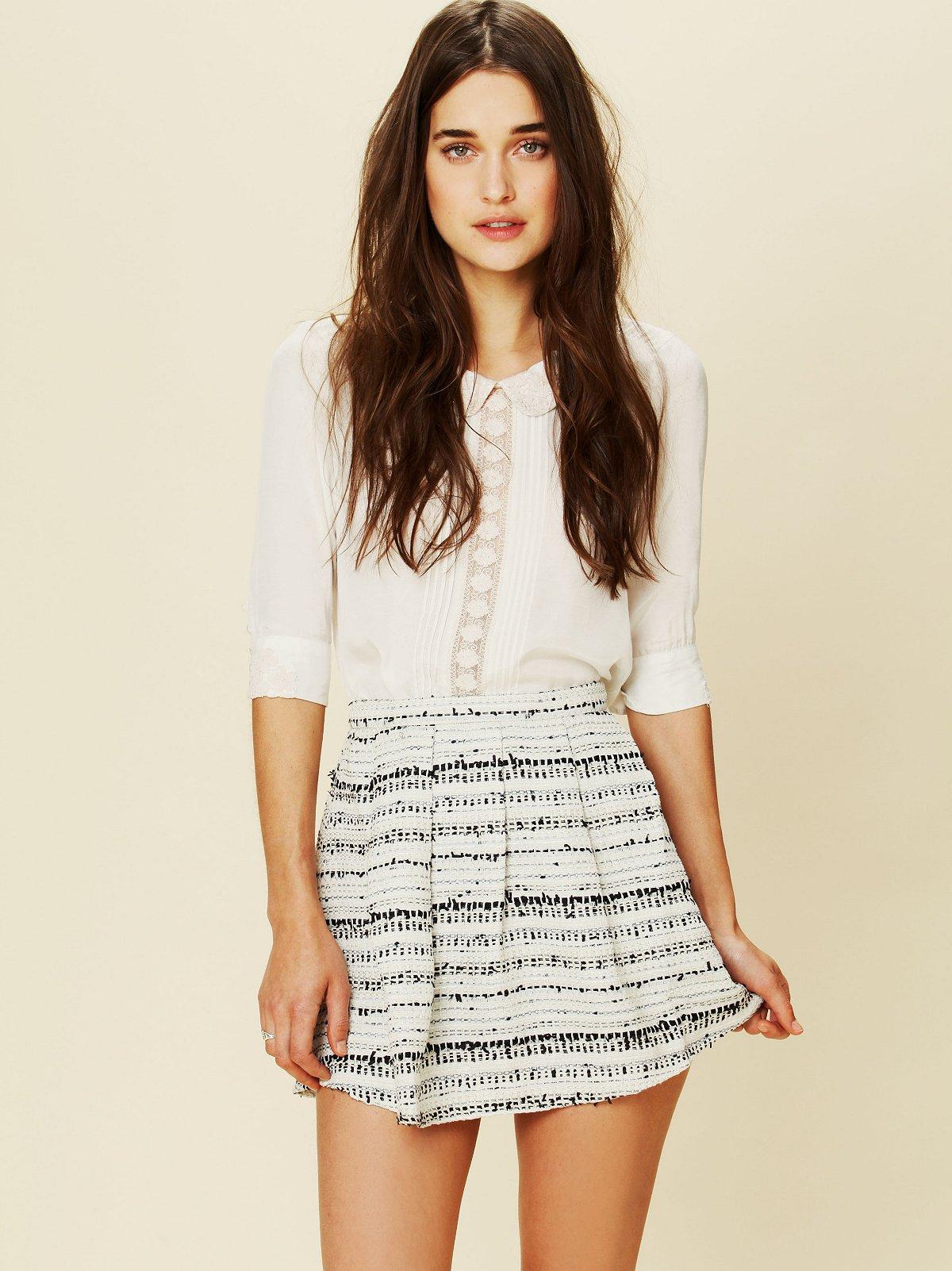 Ribbon Fit and Flare Mini Skirt