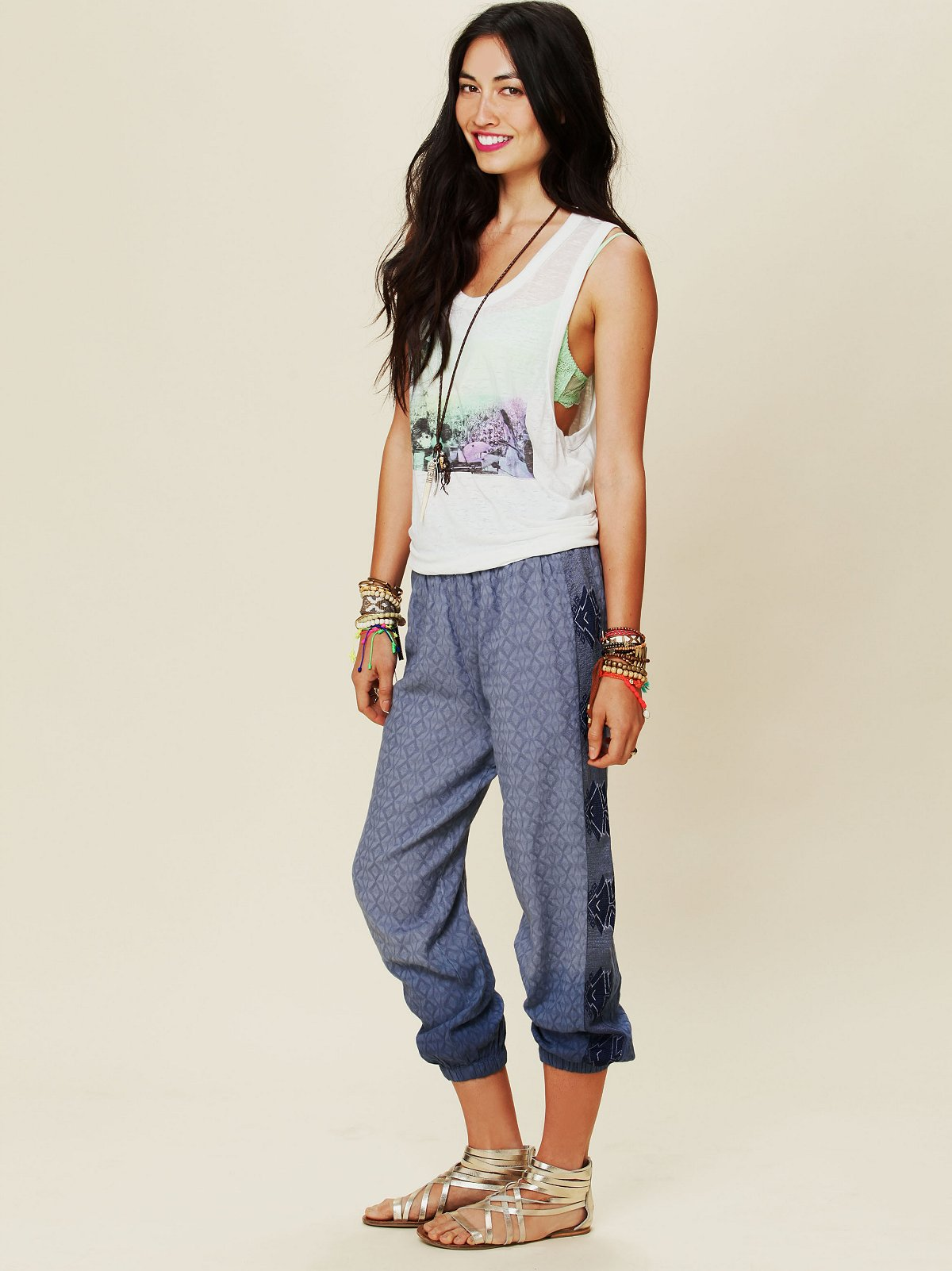 Deep Sea Embroidered Jacquard Pants