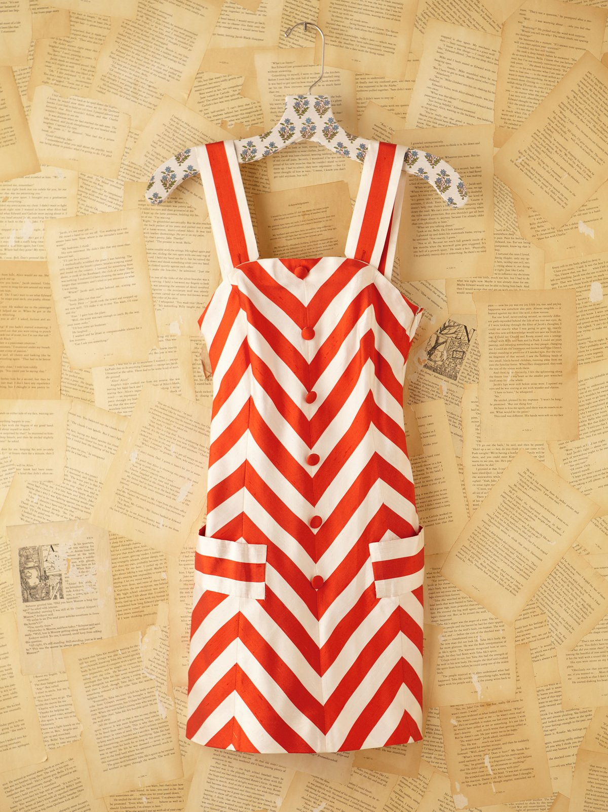 Vintage Courreges Striped Mini Dress
