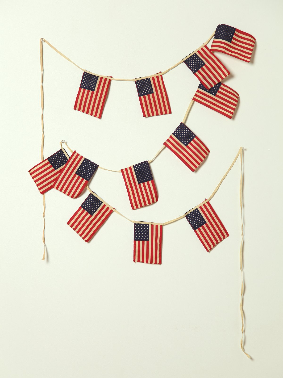 Vintage 50 Star Mini American Flag Banner