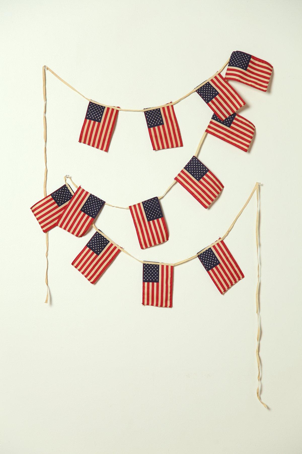 Vintage 50 Star Mini American Flag Banner