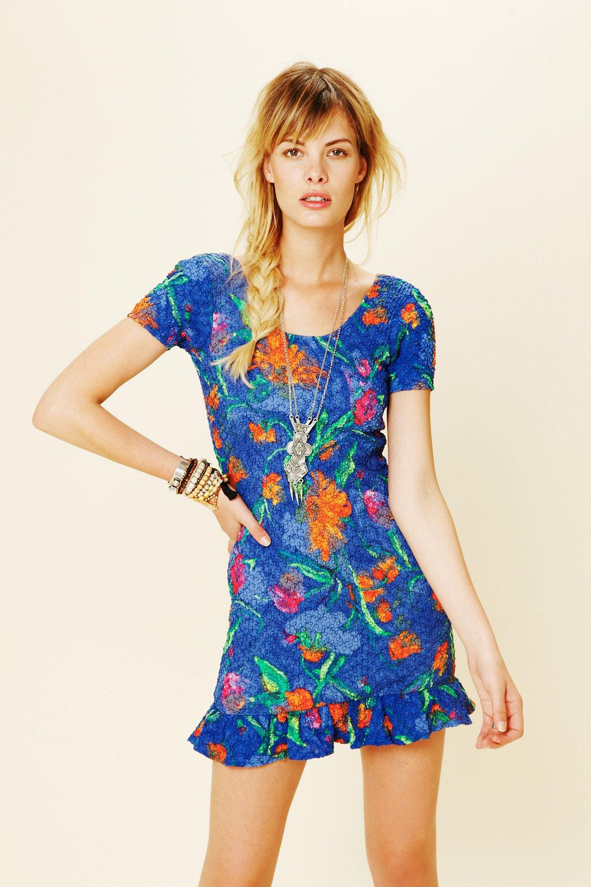 Betsey Print Short Sleeve Dress