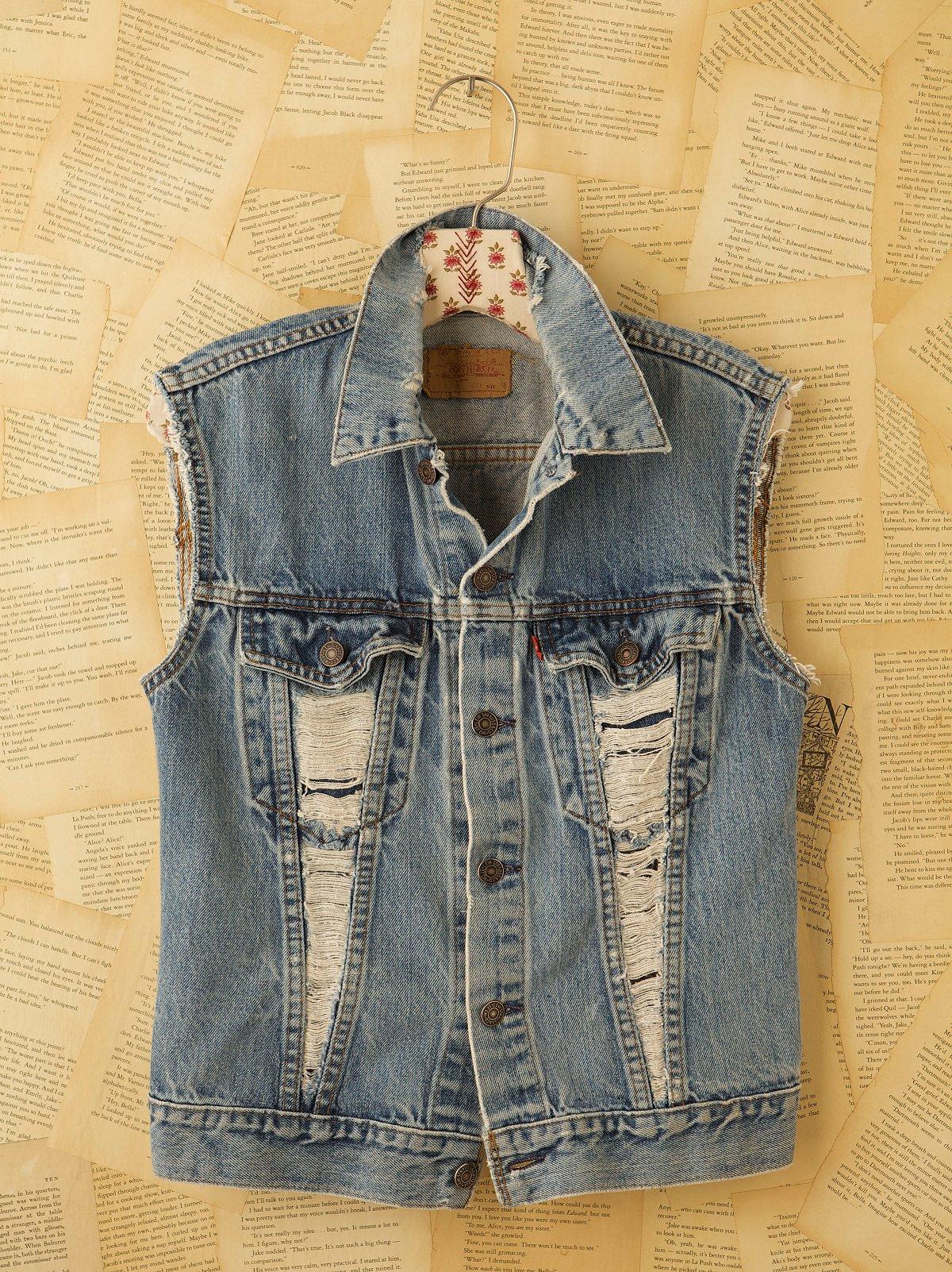 Vintage Custom Denim Vest