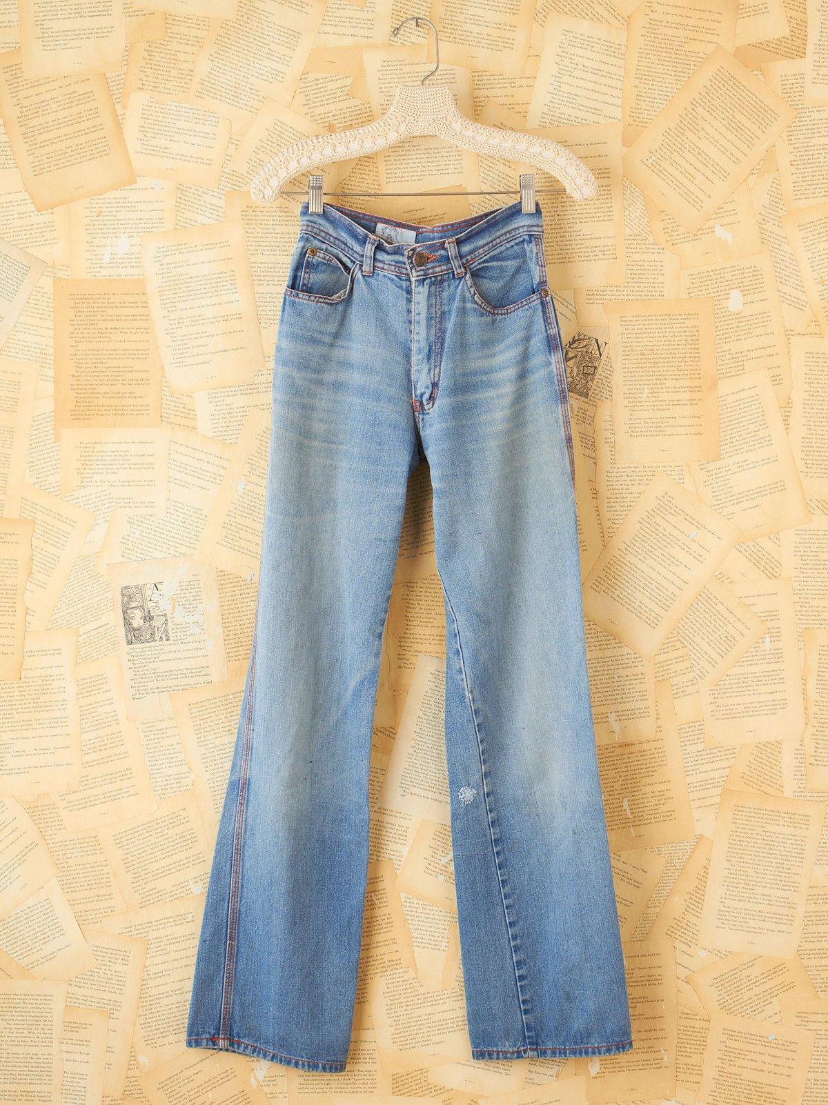 Vintage Patchwork Embellished Jeans