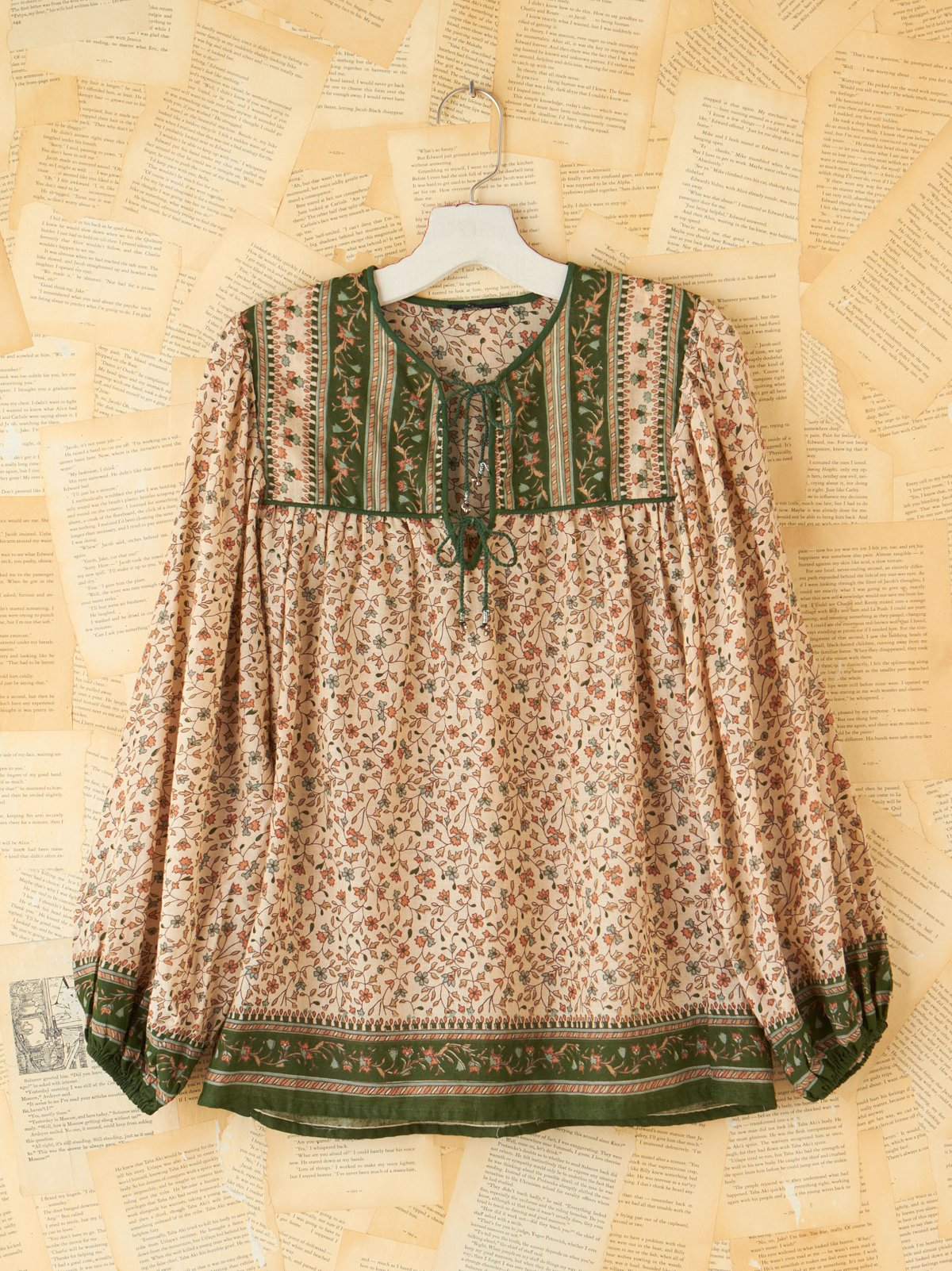 Vintage Floral Tunic Top