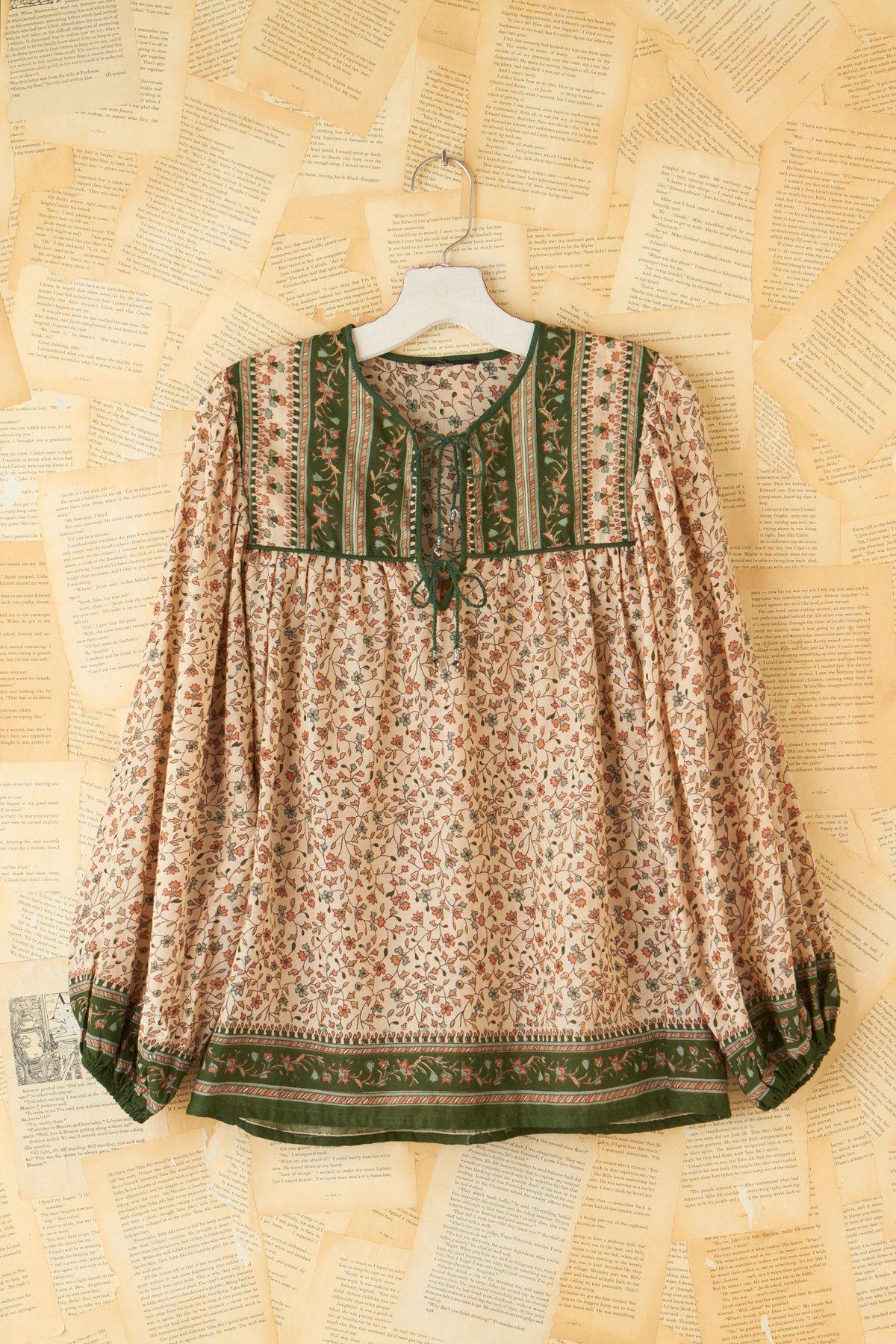 Vintage Floral Tunic Top