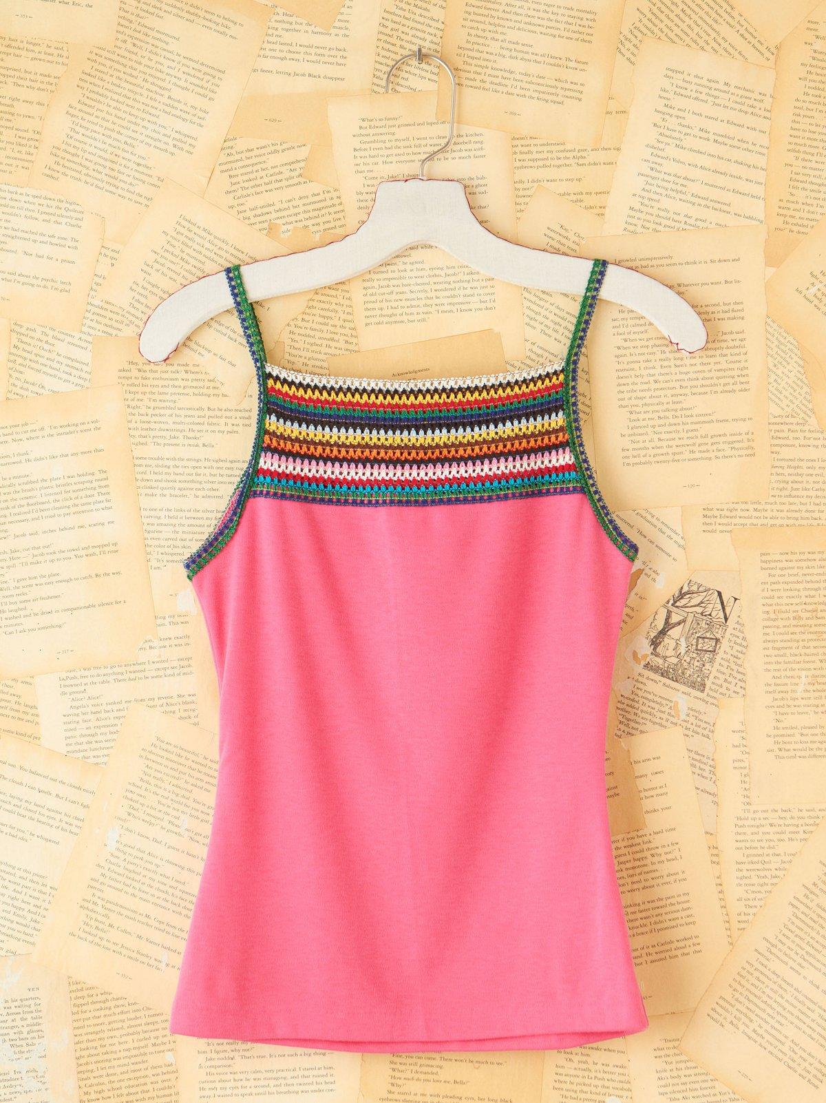 Vintage Pink Crochet Tank
