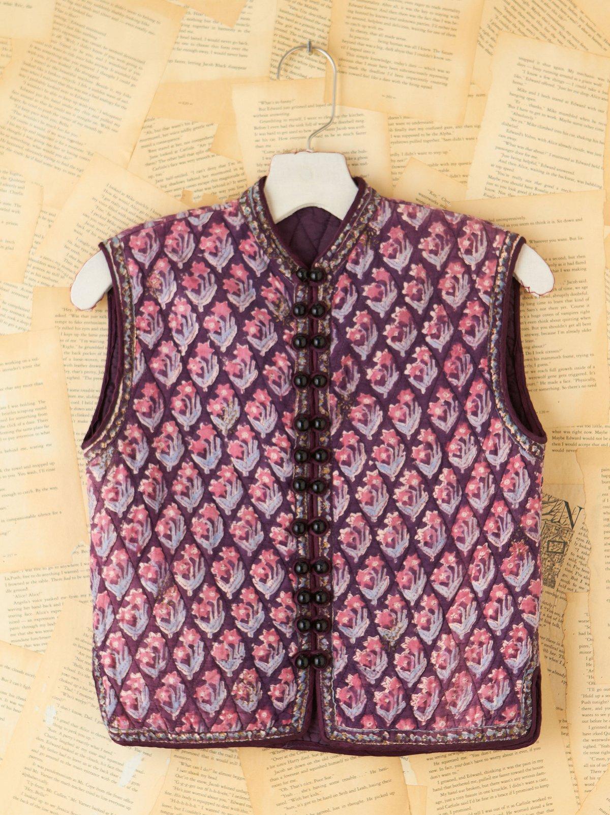 Vintage Floral Quilted Vest