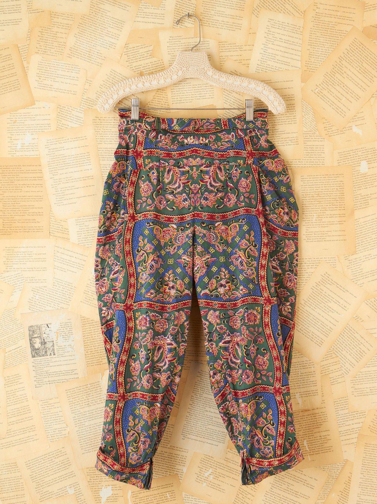 Vintage Floral Harem Pants