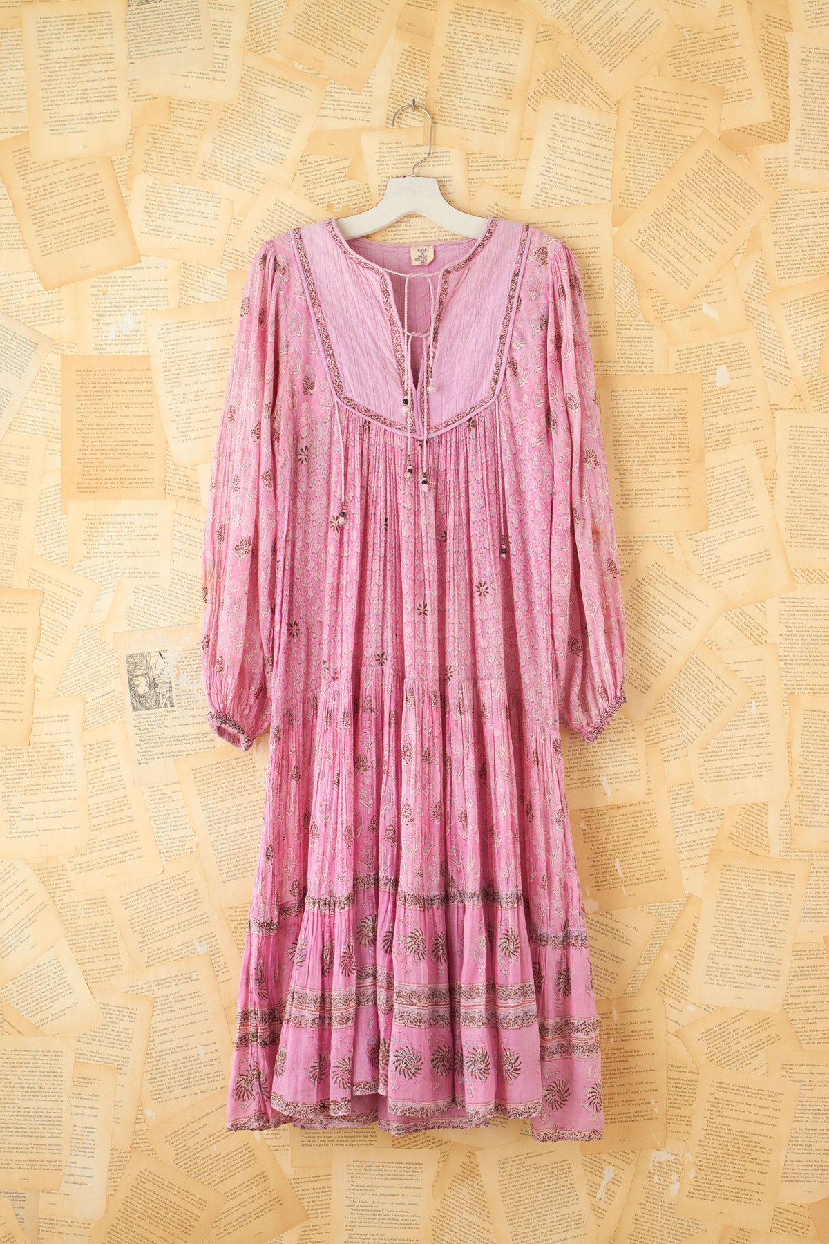 Vintage Quilted Neckline Dress