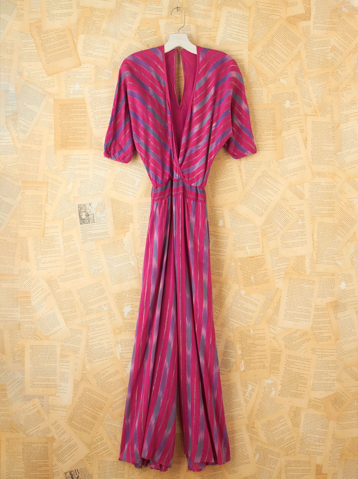 Vintage Striped Metallic Jumpsuit